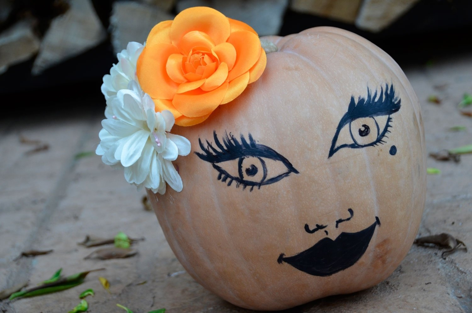 10 Lovely Cool Pumpkin Ideas Without Carving mr kate diy no carve fall thanksgiving pumpkin decorating 2 2020