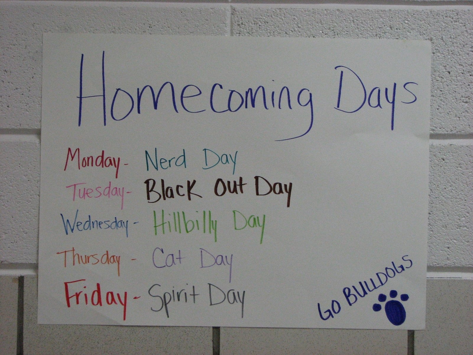 10 Cute Homecoming Dress Up Days Ideas mr mallorys stuff homecoming dress up days next week 2