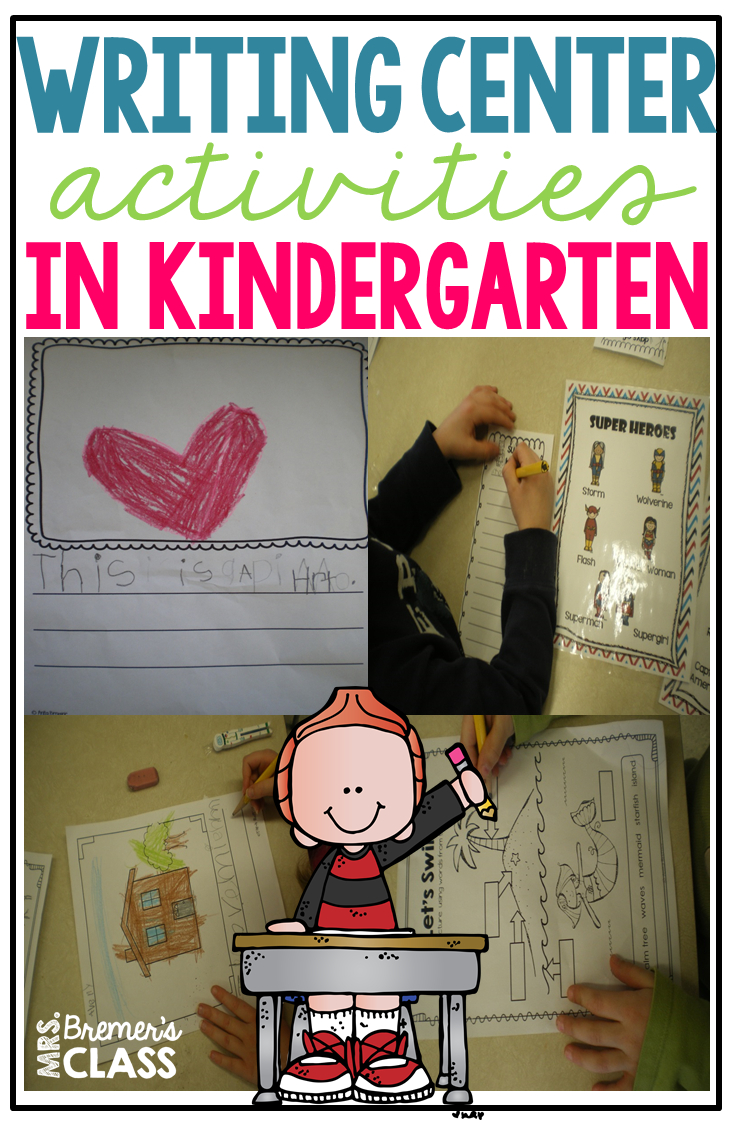 mrs. bremer's class: kindergarten writing center activities and