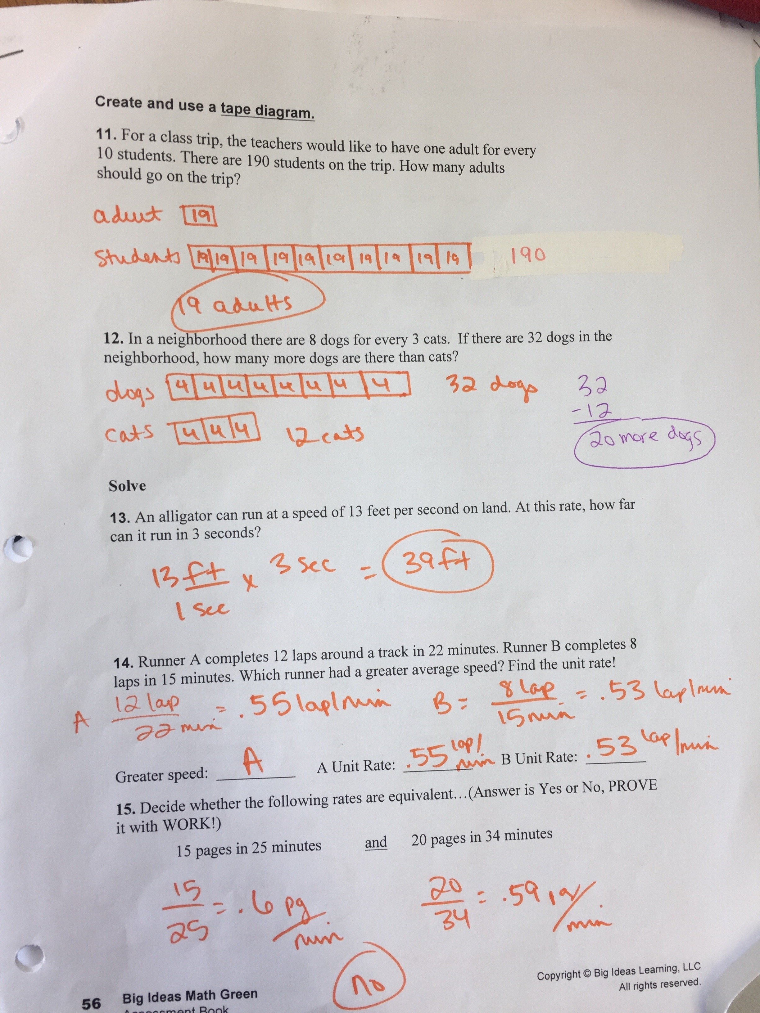 10 Perfect Big Ideas Math Red Answer Key mrs gillespie 6th grade math page 2 4