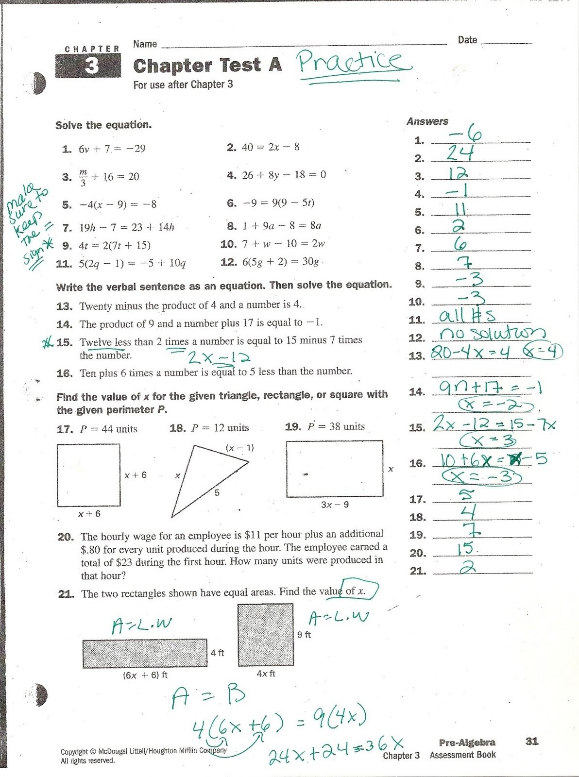 10 Beautiful Big Ideas Math Red Answers mrs whites math class chapter 3 practice problems answers 10
