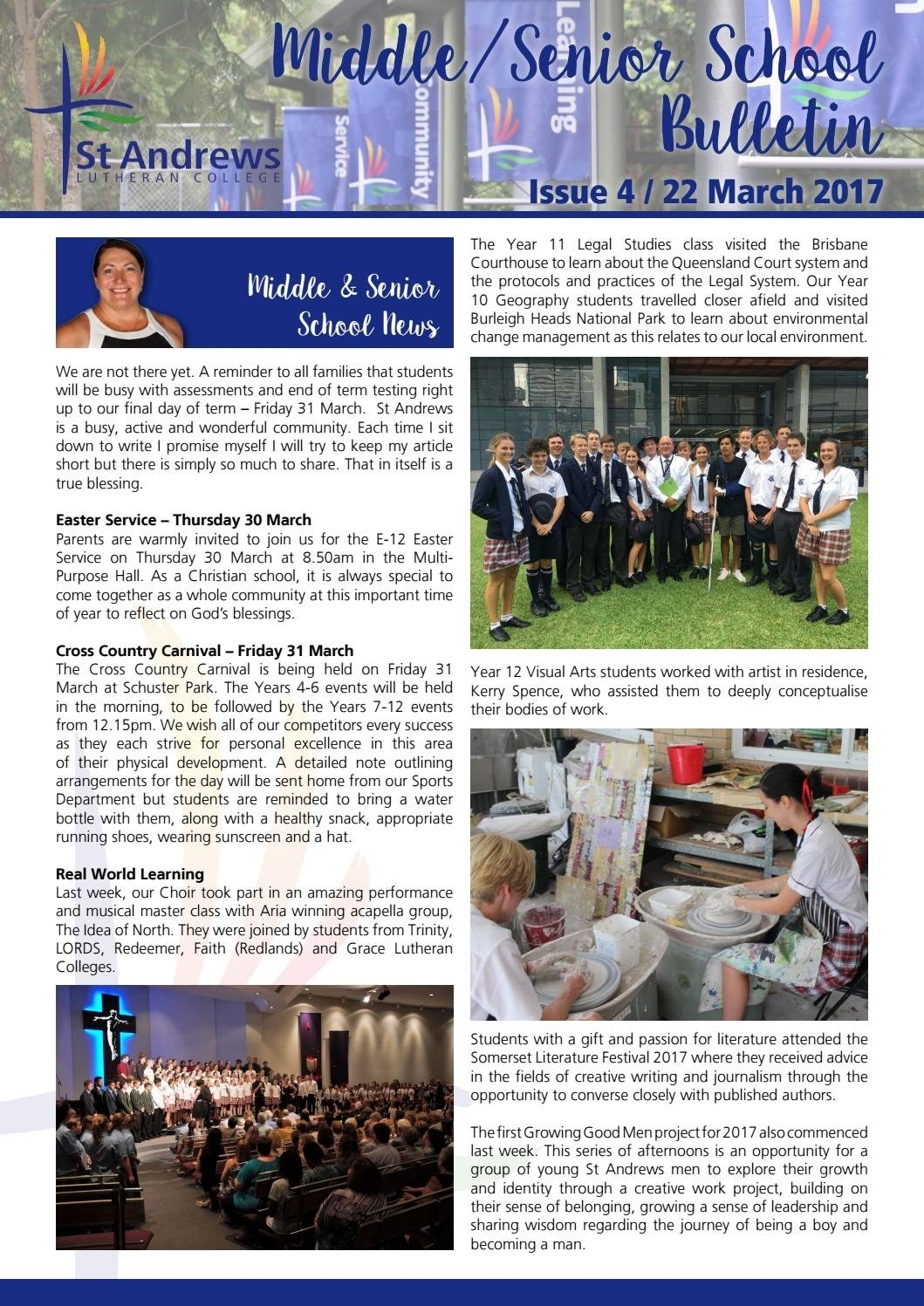 10 Attractive The Idea Of A Christian College msss bulletin 4 2017st andrews lutheran college issuu 2020