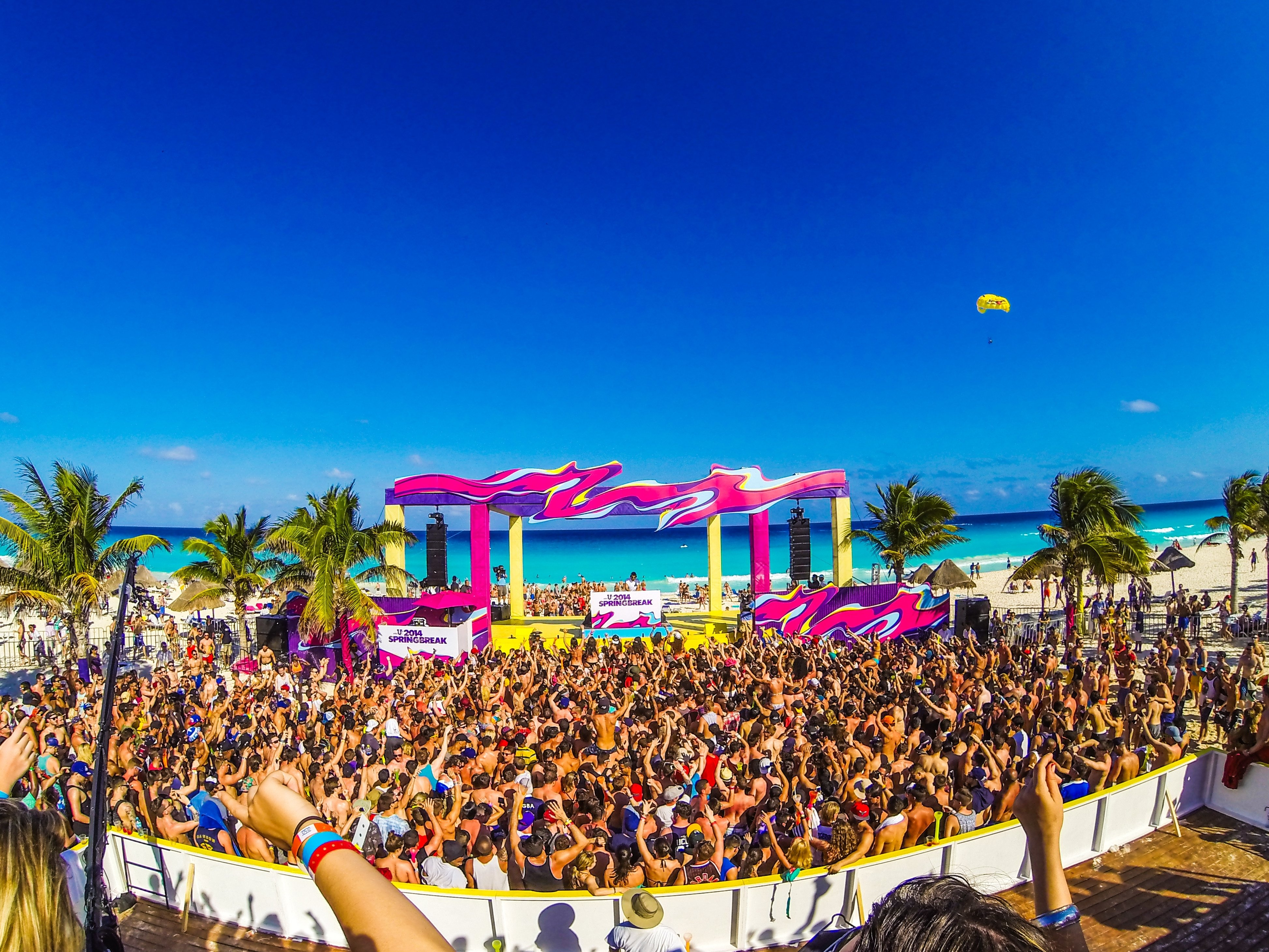 10 Perfect Spring Break Ideas For College Students mtv spring break cancun mexico studentcity blog 2020