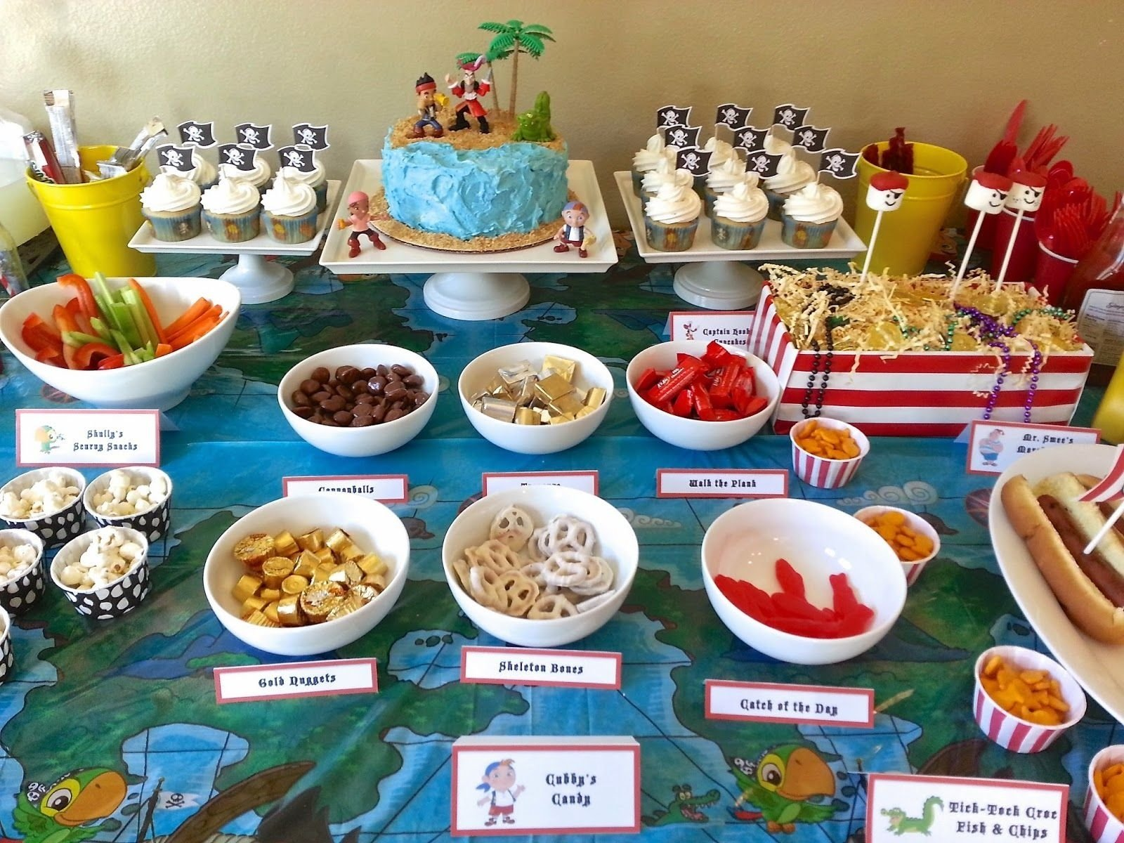 10 Stylish Pirate Birthday Party Food Ideas much kneaded jake and the neverland pirates birthday party party 3 2020