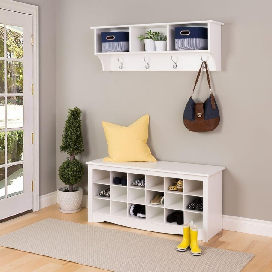10 Great Mudroom Ideas For Small Spaces mudroom ideas for small spaces with laminate flooring and shelf and 2021