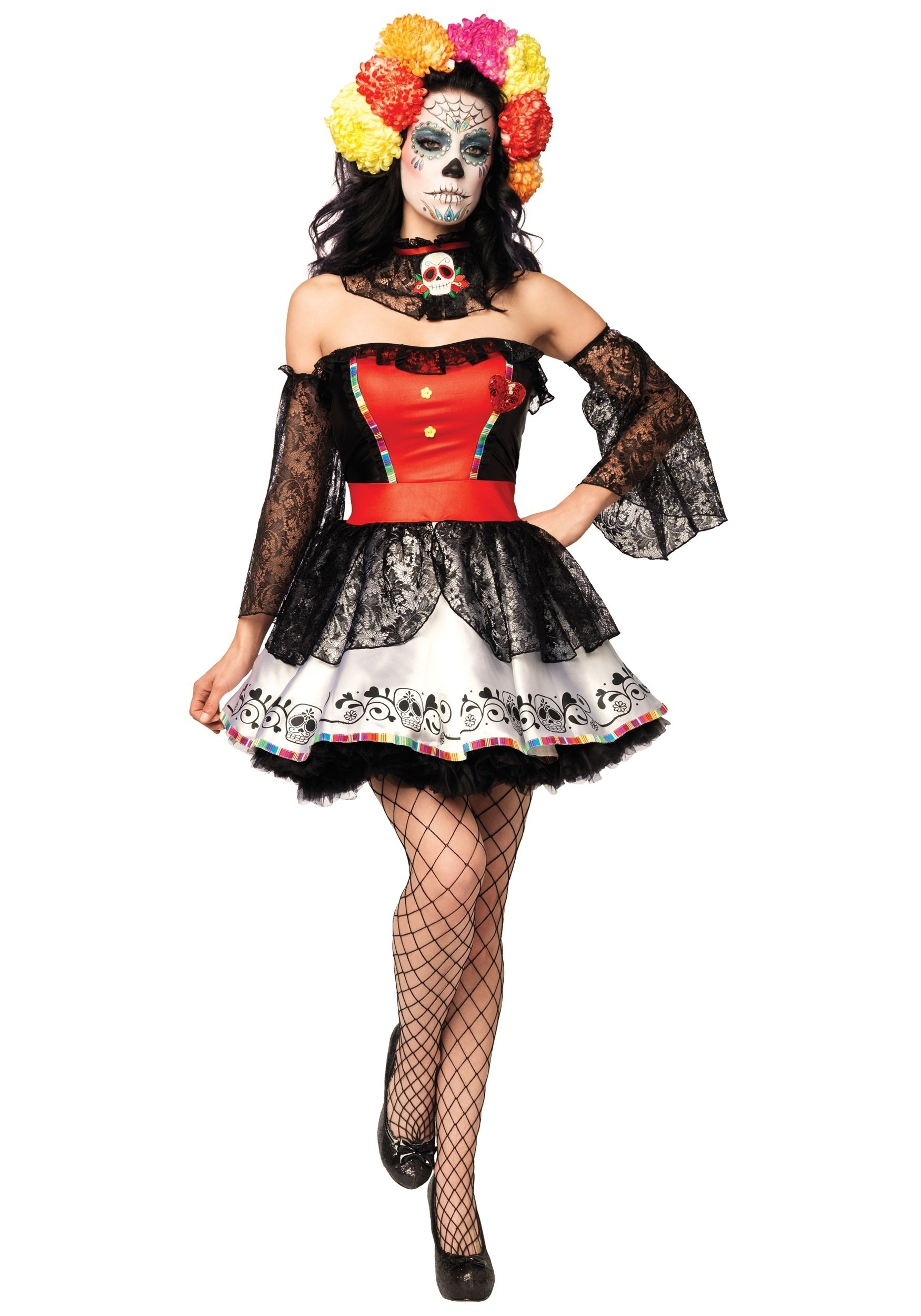 10 Great Day Of The Dead Halloween Costume Ideas muerta sugar skull costume halloween costume ideas 2016 2020