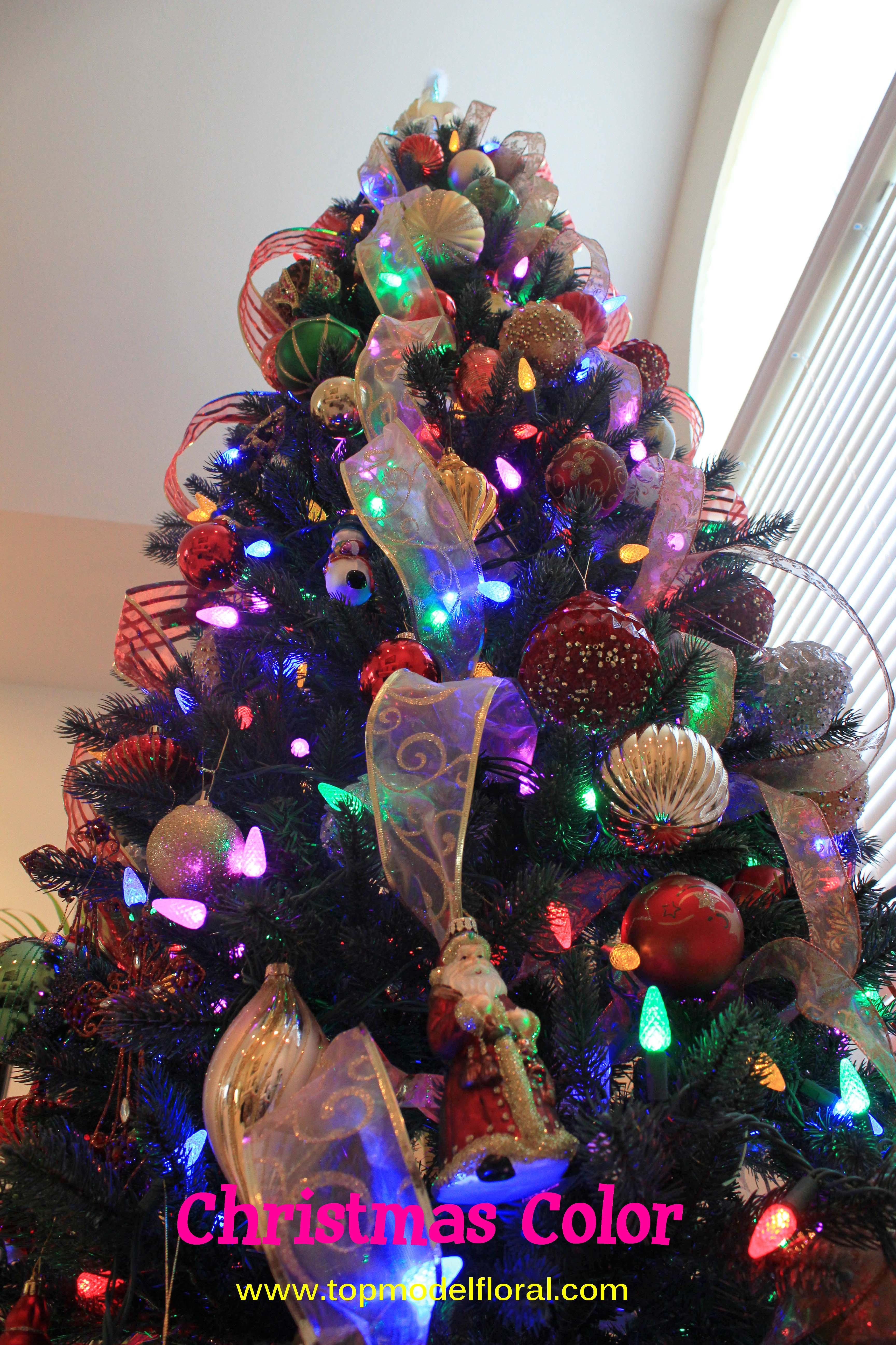 10 Elegant Christmas Tree Decorating Ideas With Multi Colored Lights multi colored light christmas tree ideas my web value 2021