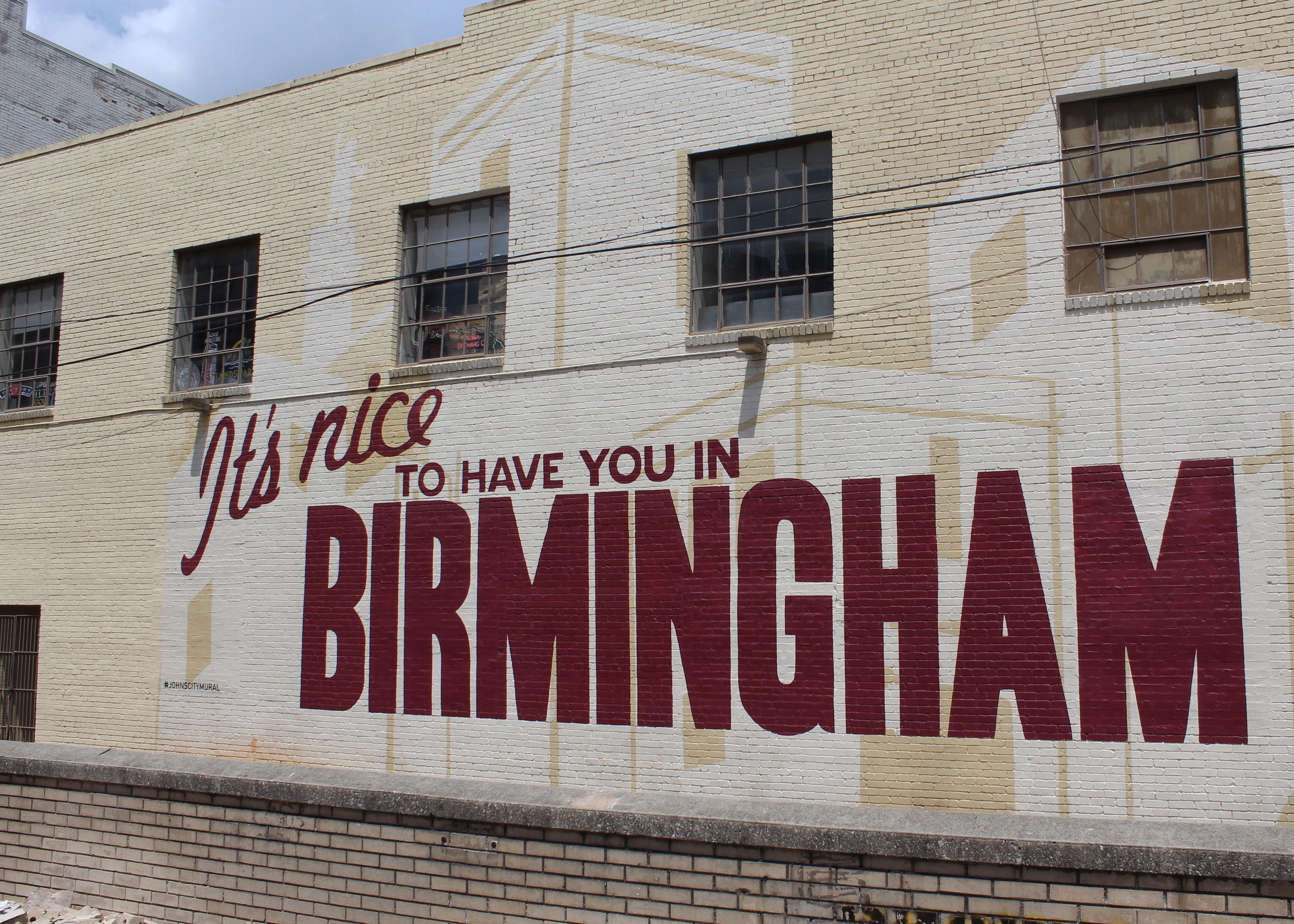 10 Stylish Date Ideas In Birmingham Al mural on wall of johns city diner in downtown birmingham alabama 2021