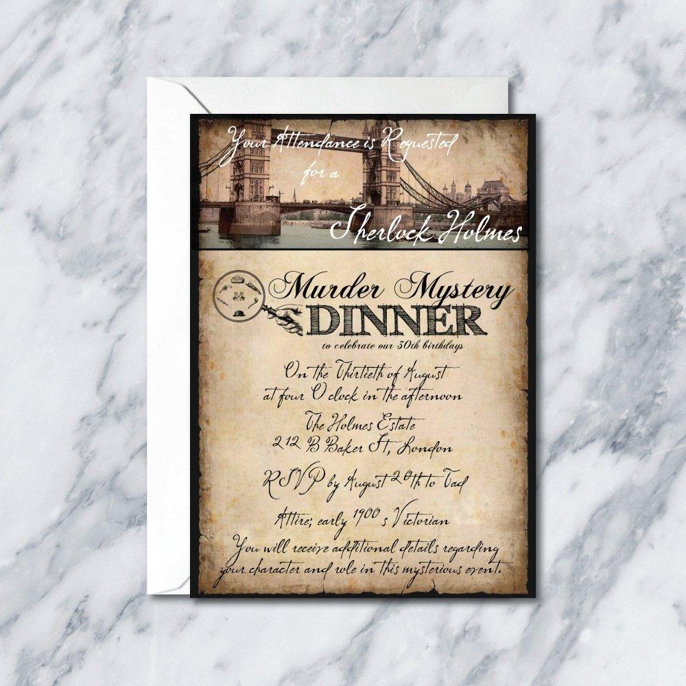 10 Fabulous Murder Mystery Dinner Party Ideas murder mystery dinner invitation best party ideas 1 2021