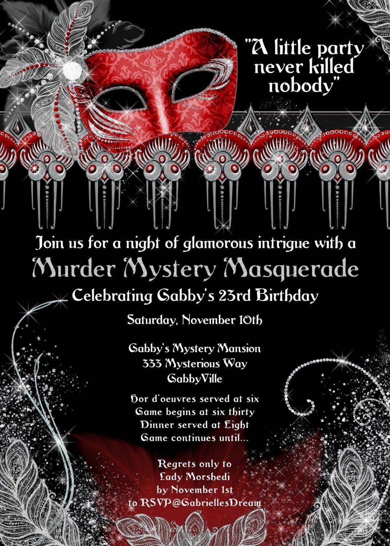 10 Fabulous Murder Mystery Dinner Party Ideas murder mystery dinner invitation best party ideas 2 2021