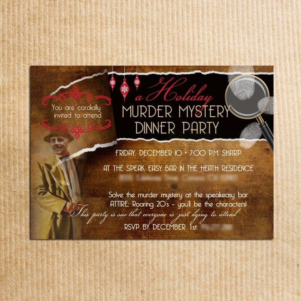 10 Fabulous Murder Mystery Dinner Party Ideas murder mystery dinner invitation best party ideas 2021