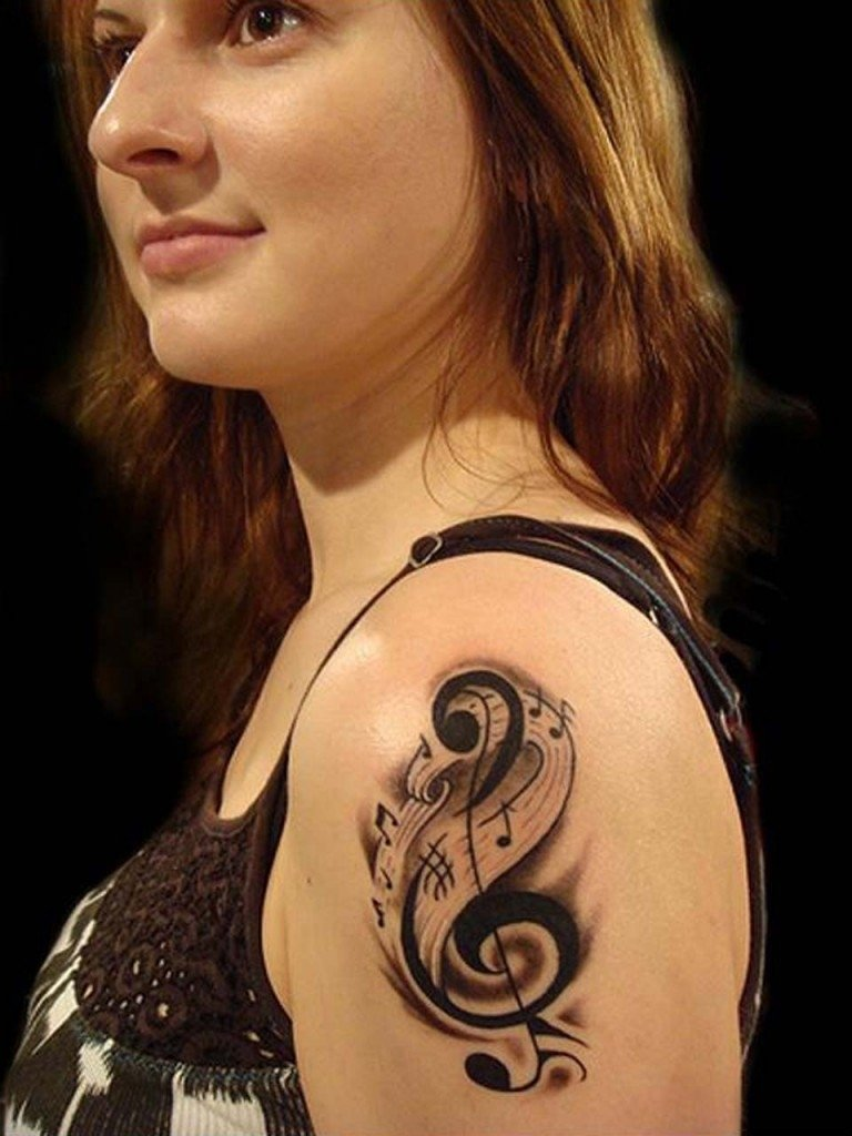 10 Elegant Arm Tattoo Ideas For Girls music tattoos for girls musical notes tattoos pinterest music