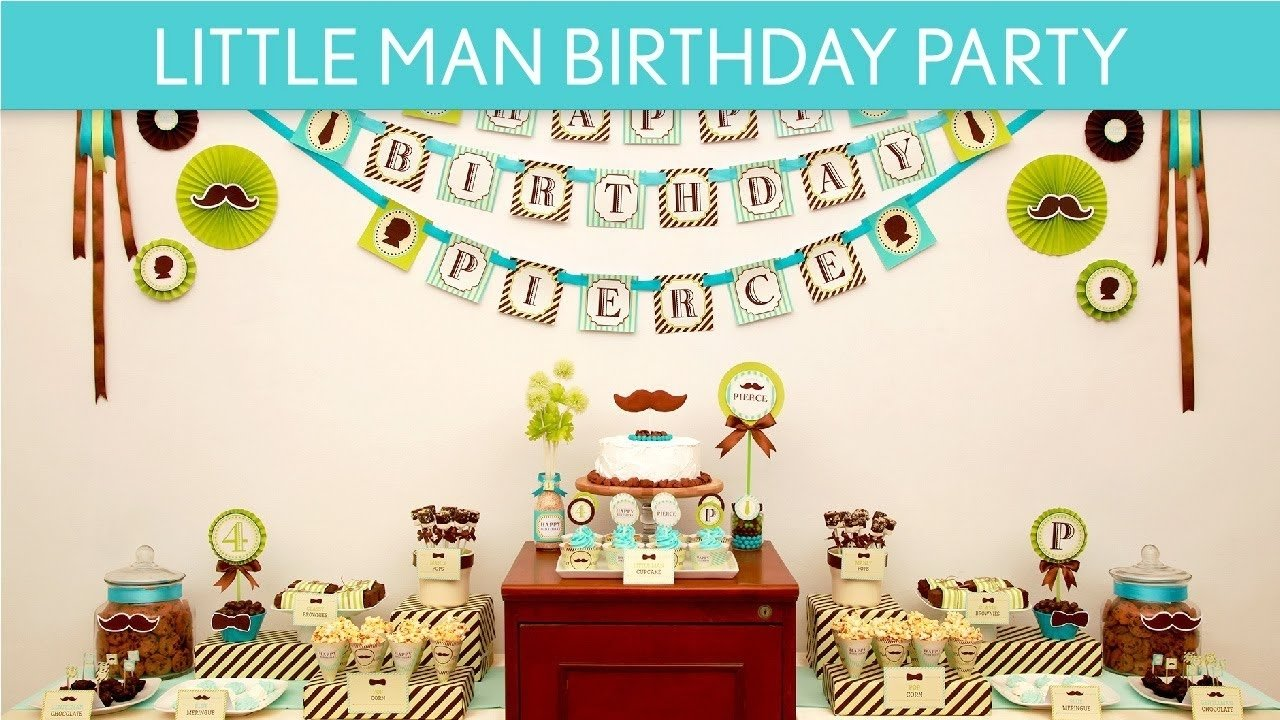 10 Best Little Man Birthday Party Ideas mustache birthday party ideas littleman b17 youtube