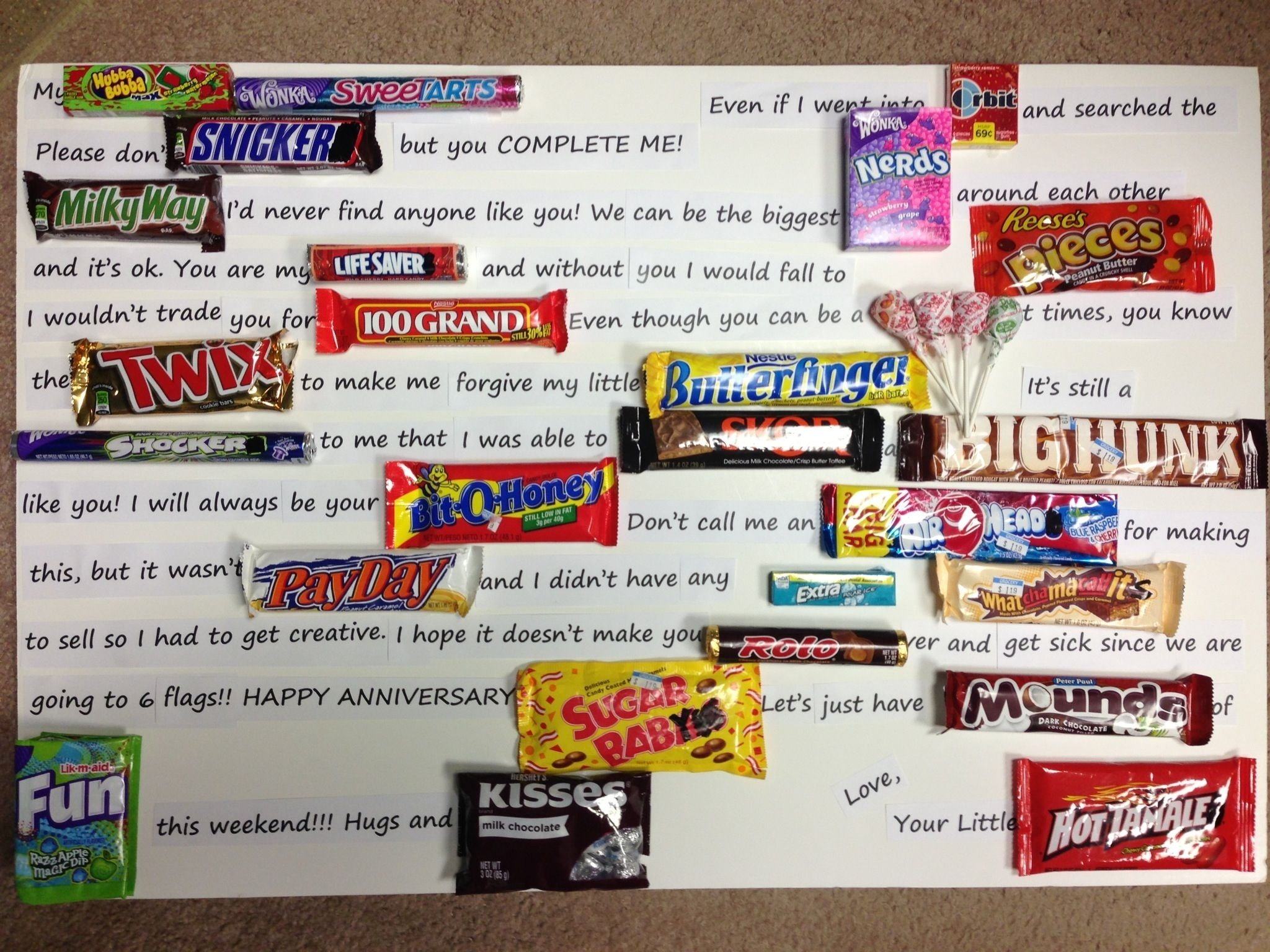 10 Gorgeous 6 Year Anniversary Gift Ideas my 6 year anniversary gift to chris 6 year gift is candy so this 2021