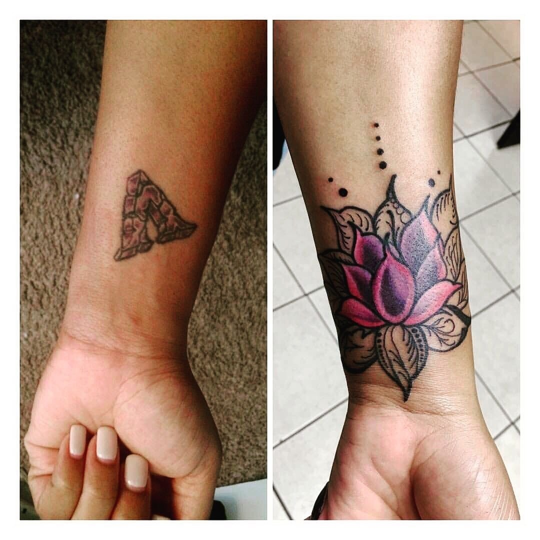 10 Trendy Tattoo Cover Up Ideas For Wrist my beautiful henna inspired lotus flower cover up tattoo tattoos 2021