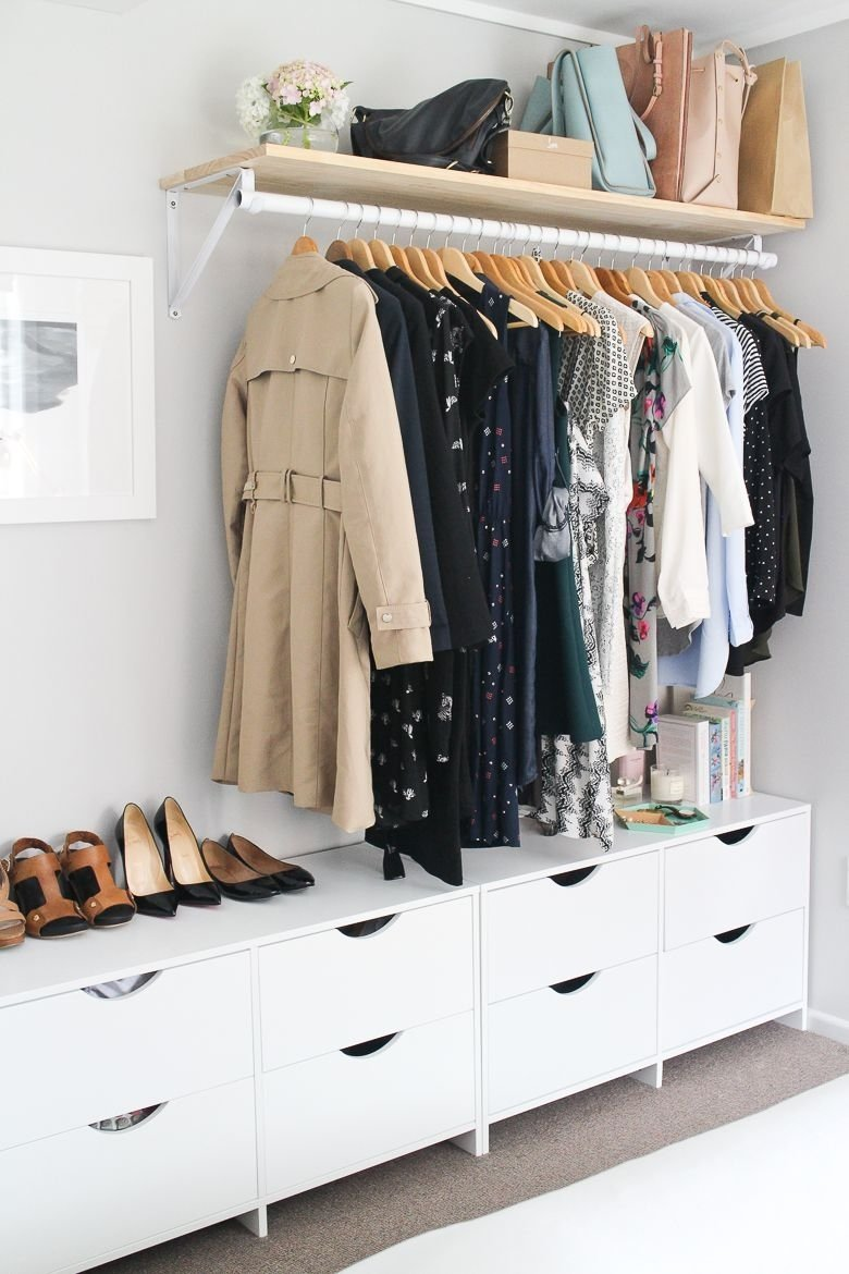 10 Pretty Closet Ideas For Small Bedrooms my bedroom and open wardrobe made from scratch small space big 2020
