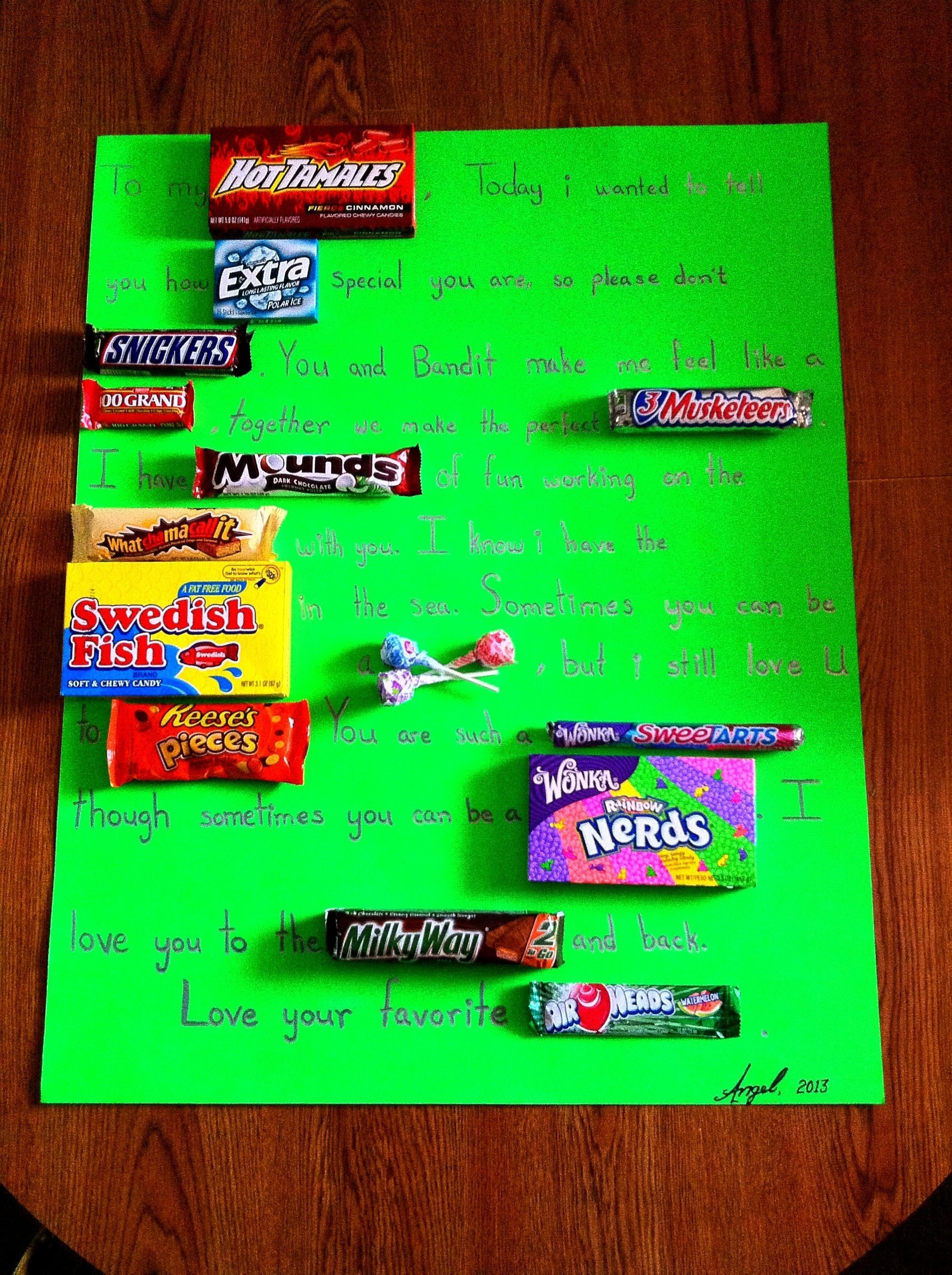 10 Ideal Sweetest Day Ideas For Her my candy card i made for my boyfriend on sweetest day candy 2020
