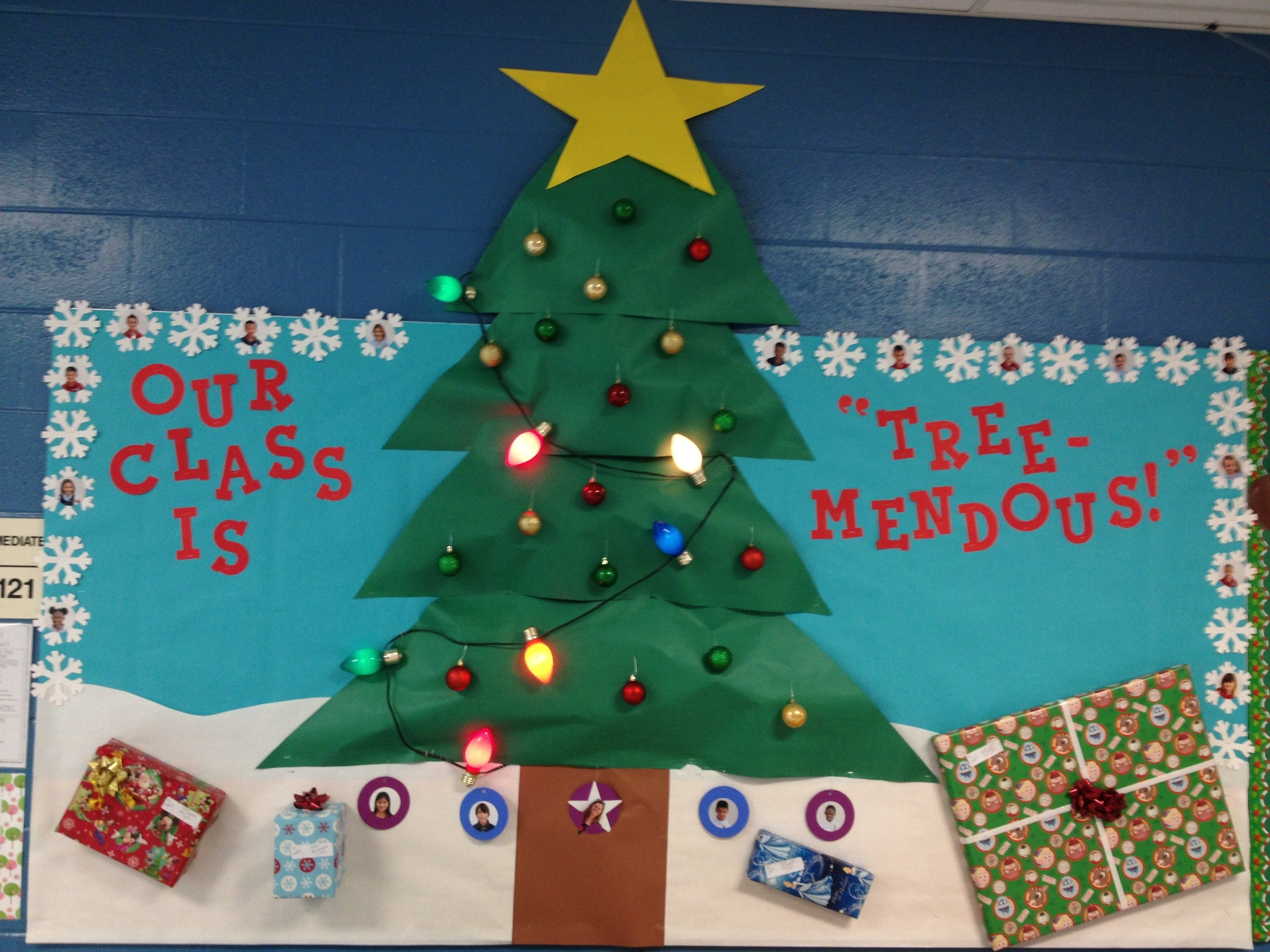 my christmas tree bulletin board :) | school stuff | pinterest