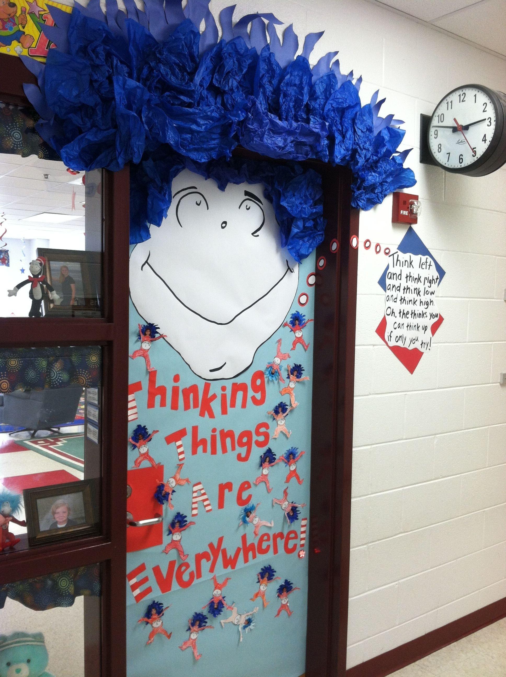 10 Attractive Dr Seuss Classroom Decorating Ideas my classroom door for dr seuss day classroom door ideas pinterest 2020