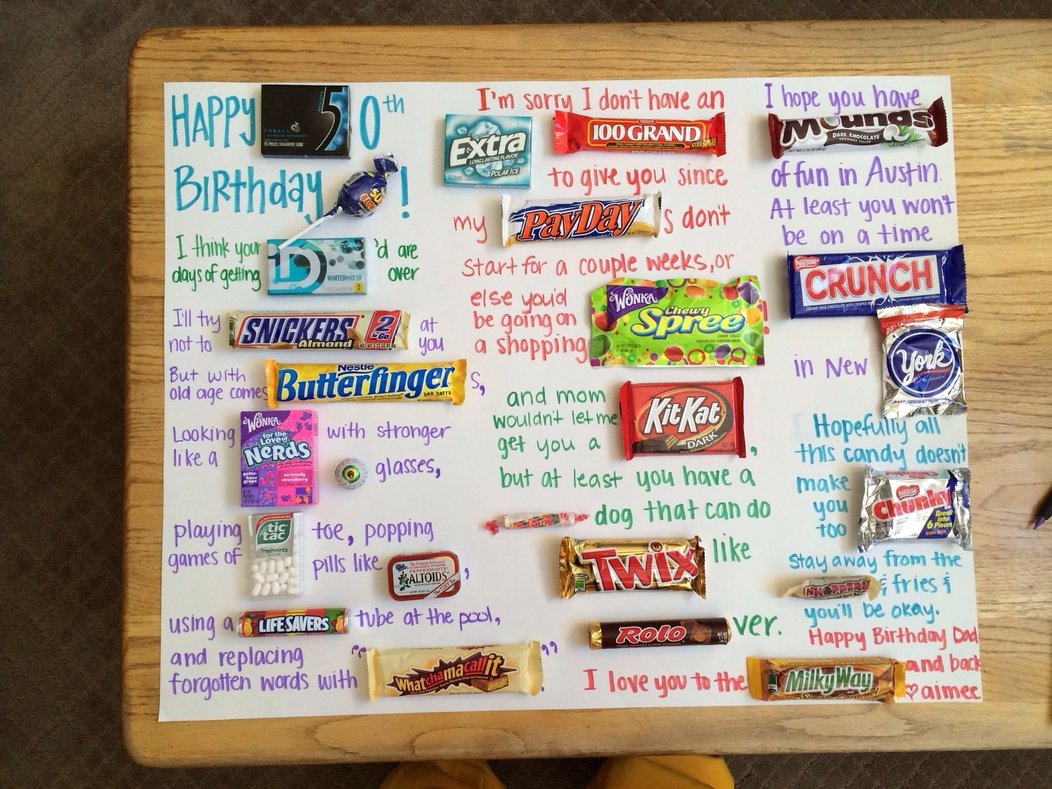 my dads 50th birthday card/poster | birthday ideas | pinterest
