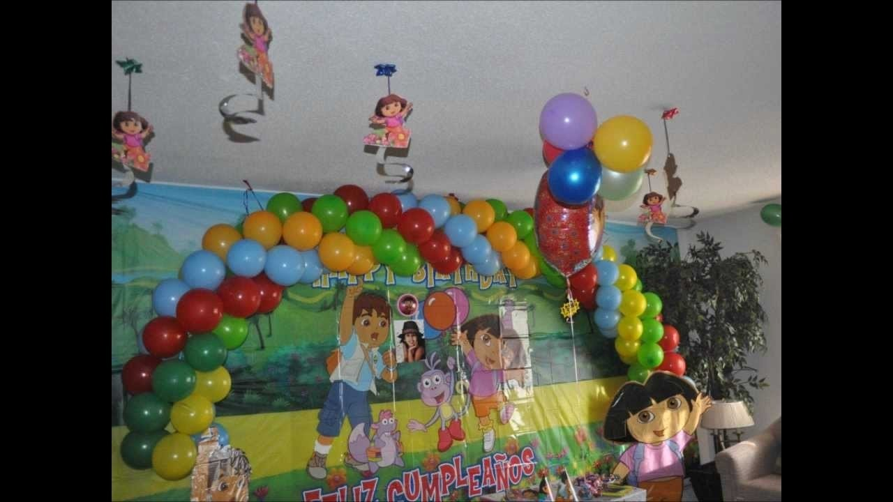 my daughter 3rd bithday party + dora & diego theme birthday party