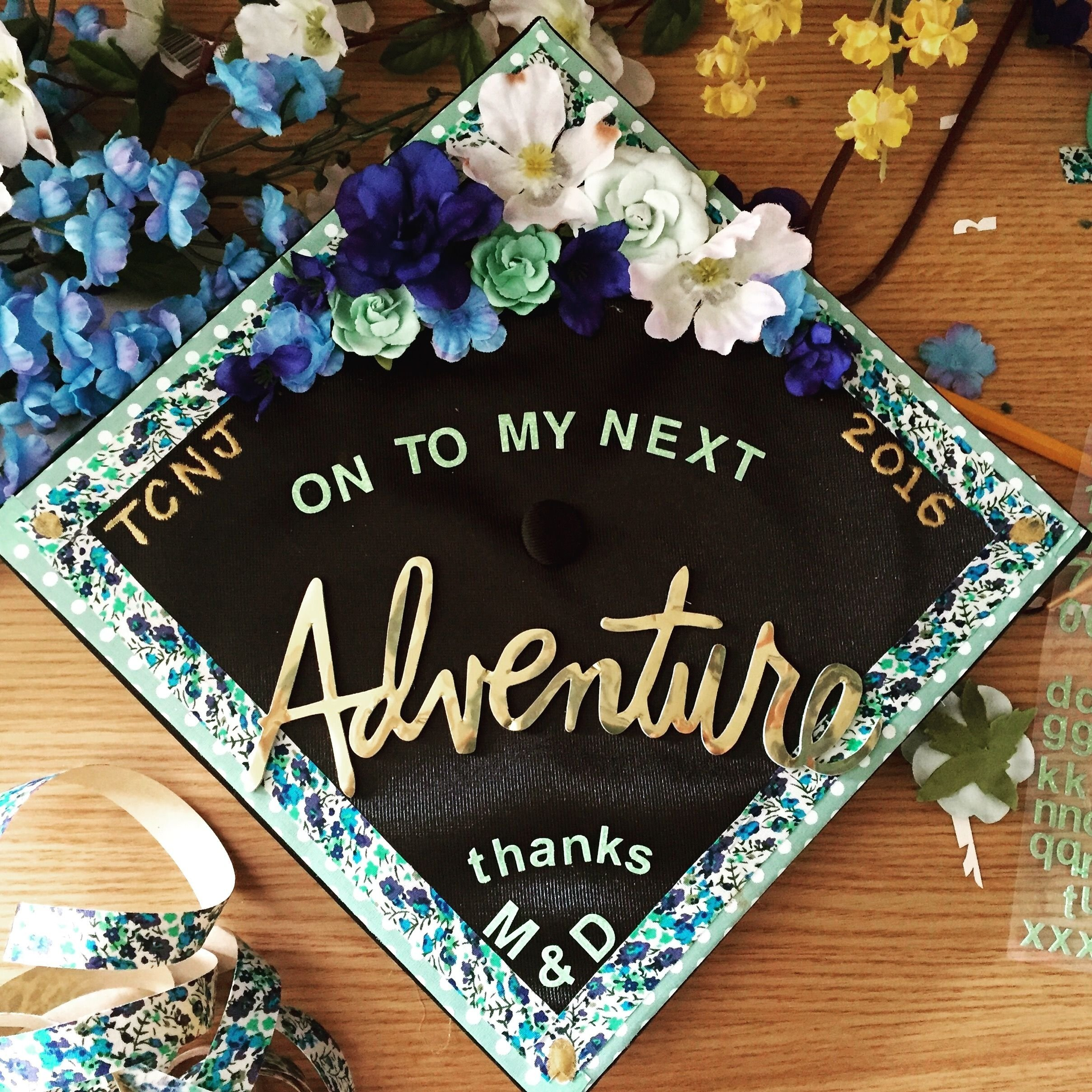 my decorated graduation cap! #gradcap | crafty inspiration