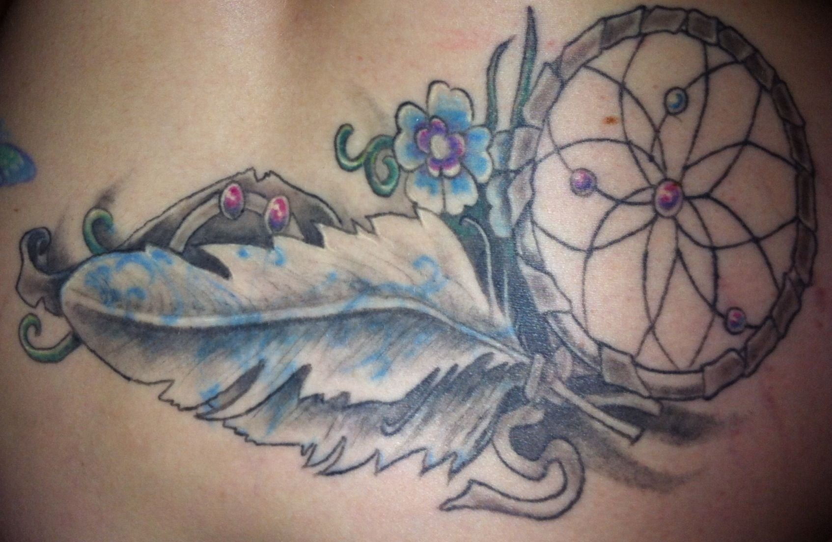 10 Elegant Tramp Stamp Cover Up Ideas my dream catcher tattoo this is a beautiful cover up job done of my 2020