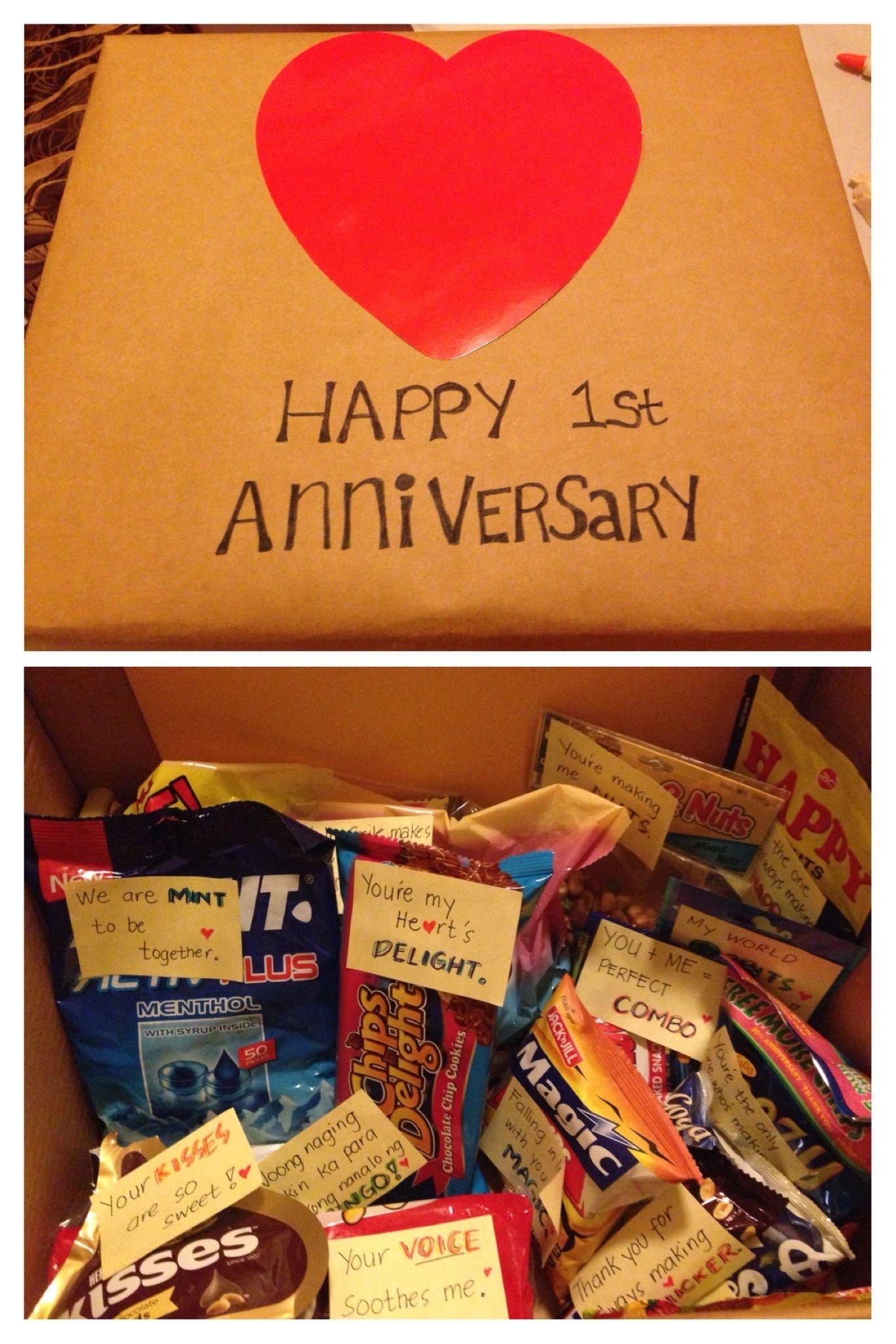 10 Lovable Gift Ideas For Boyfriend Anniversary my first anniversary gift to my boyfriend sweet nothings 1 2021