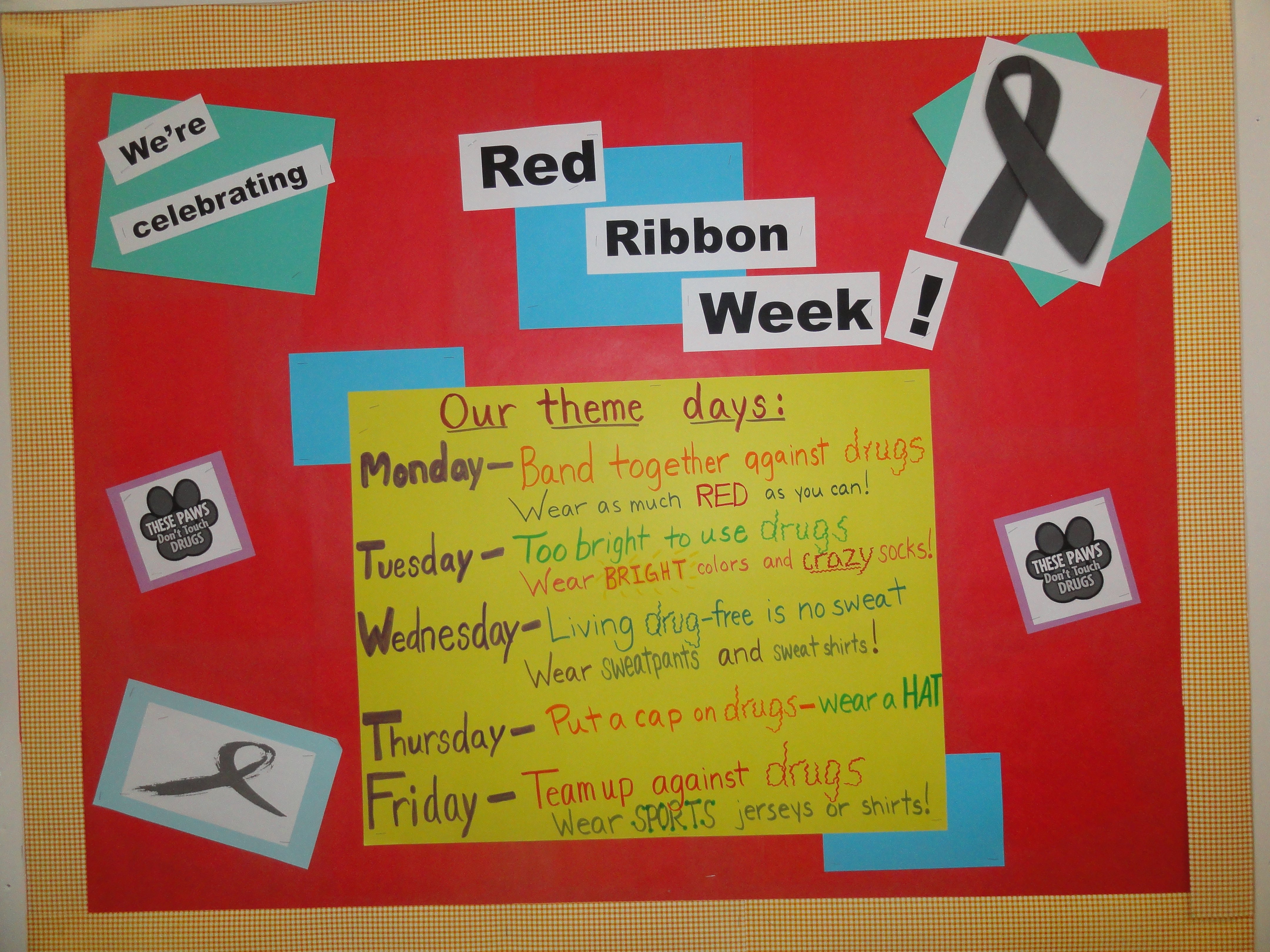 10 Great Red Ribbon Week Bulletin Board Ideas my first ever red ribbon week the school counselor kind