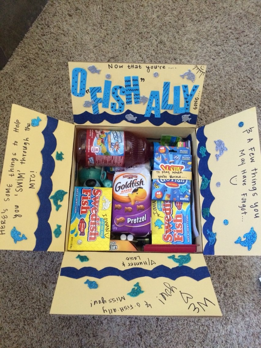 my first missionary care package for my best friend! filled will all