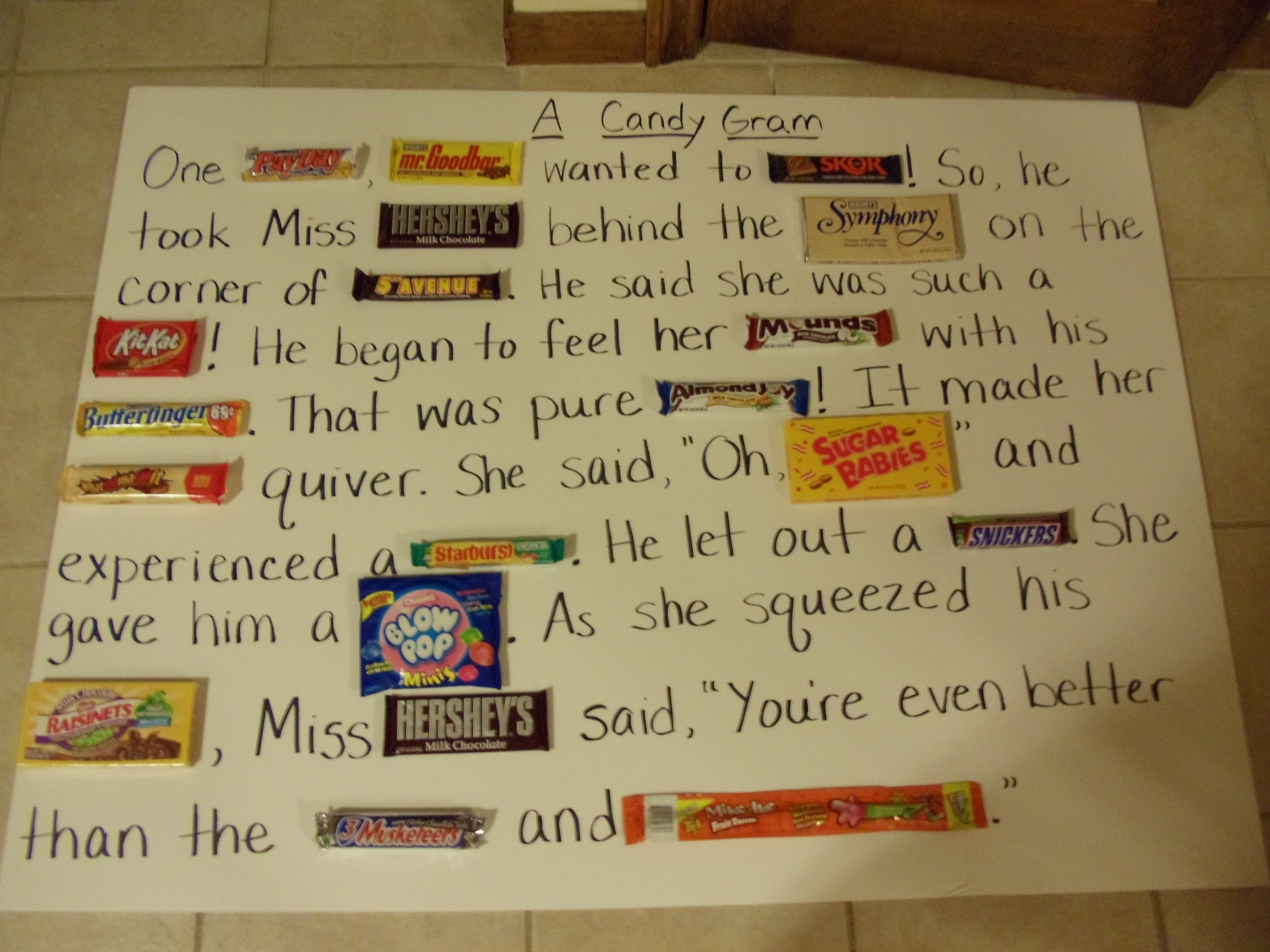 10 Ideal Sweetest Day Ideas For Her my friend made this candy gram for her boyfriends 40th birthday 2020