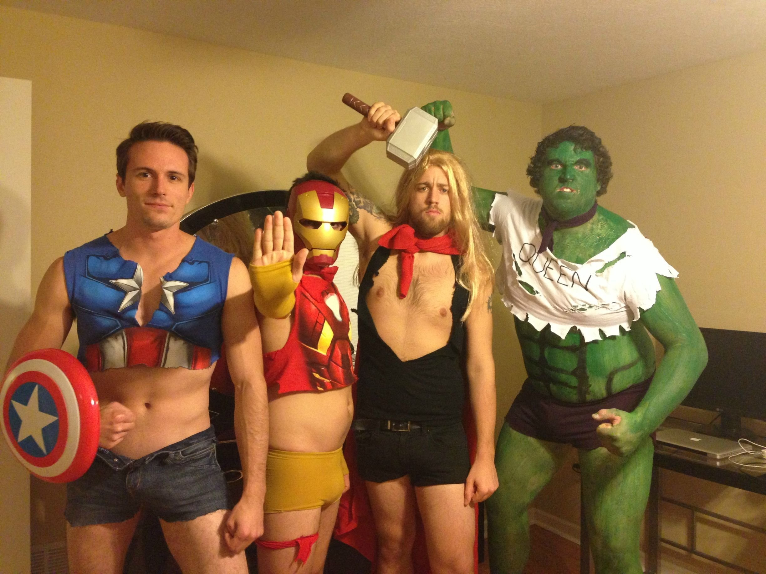 """my friends and i decided to go as """"sexy avengers"""" for halloween"""