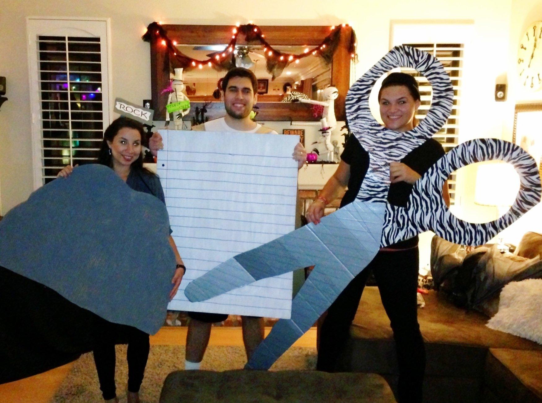 10 Trendy Rock Paper Scissors Costume Ideas my halloween costume for a trio rock paper scissors i rocked 2021