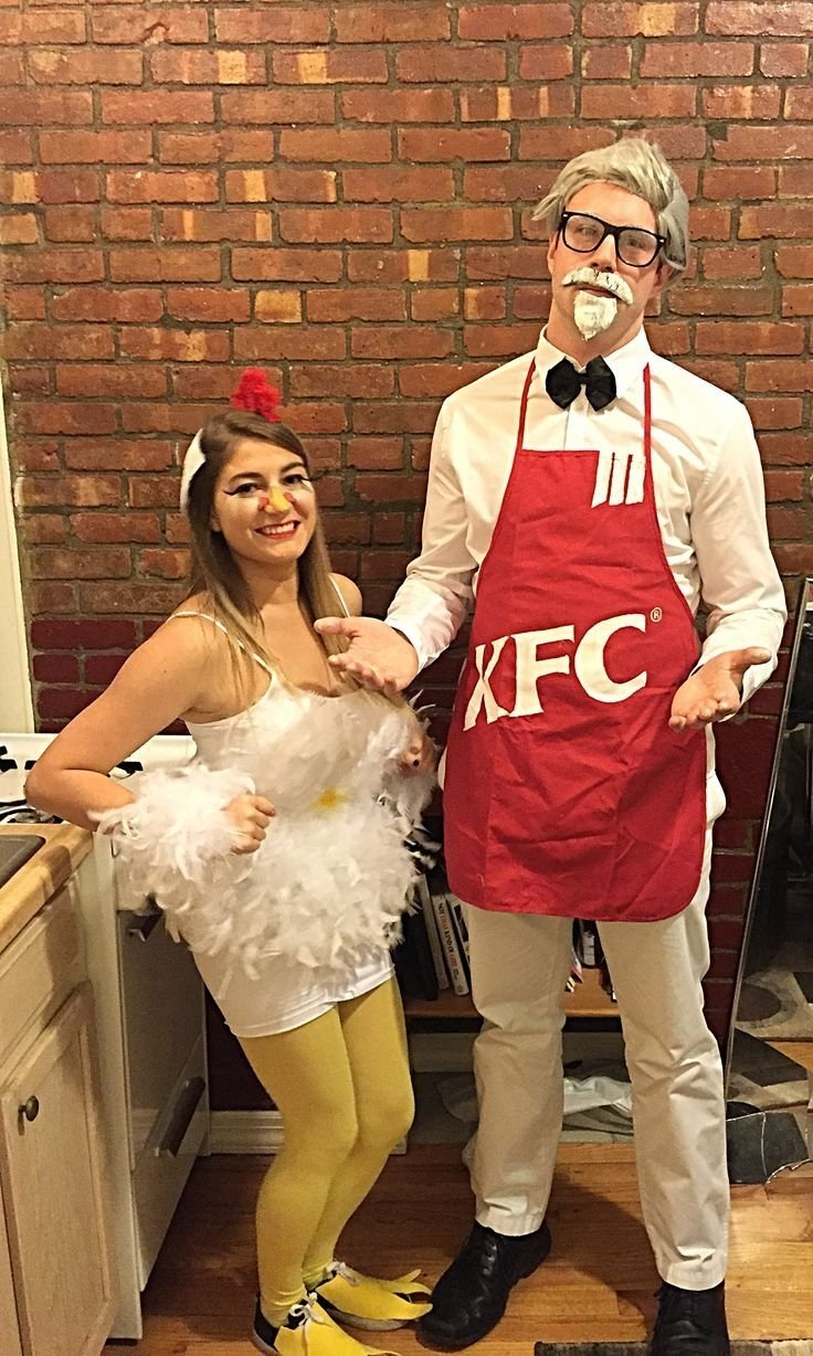10 Best Unique Couple Halloween Costume Ideas my home made chicken halloween costume and homemade kfc apron 2