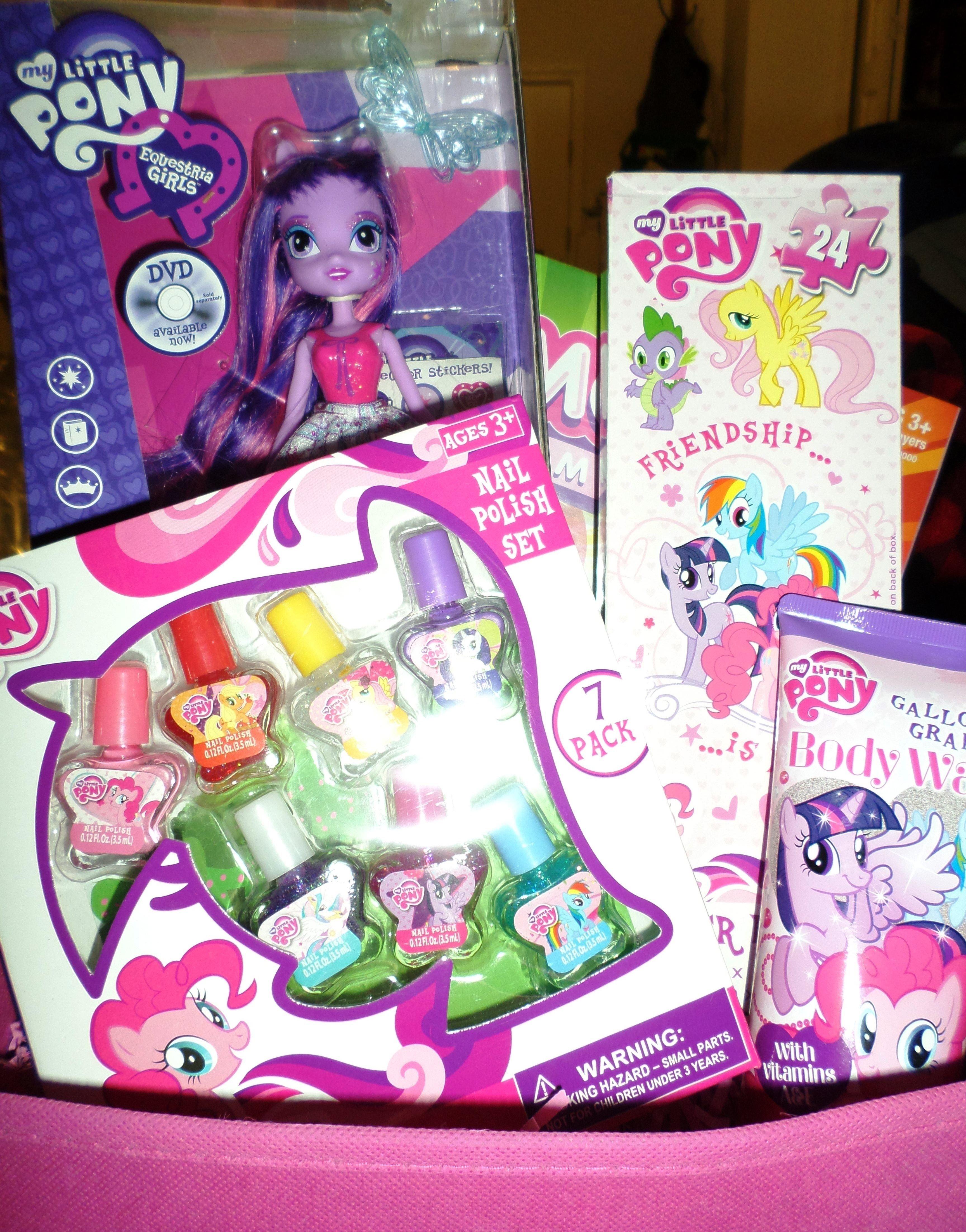 10 Gorgeous My Little Pony Gift Ideas my little pony gift basket gift ideas for children pinterest