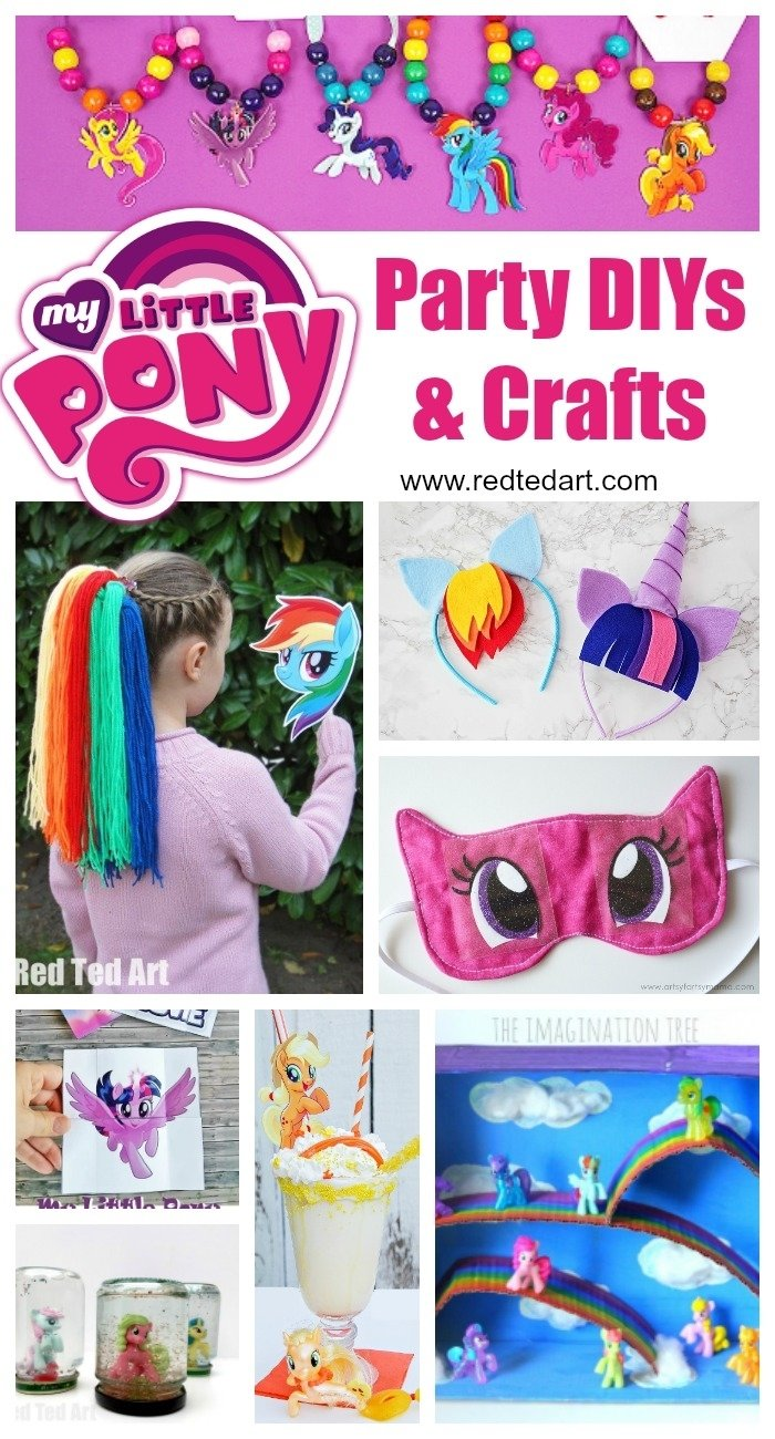 10 Stylish My Little Pony Craft Ideas my little pony party ideas crafts red ted arts blog 2020