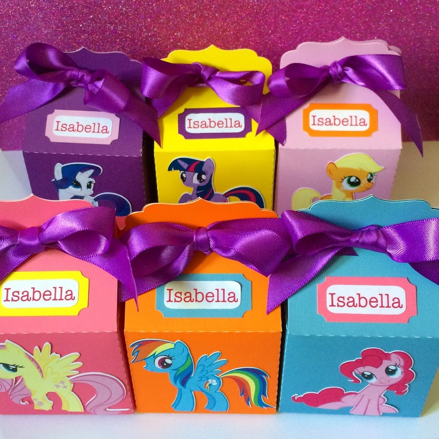 10 Gorgeous My Little Pony Gift Ideas my little pony party personalized favor boxes mymiamicrafts 1