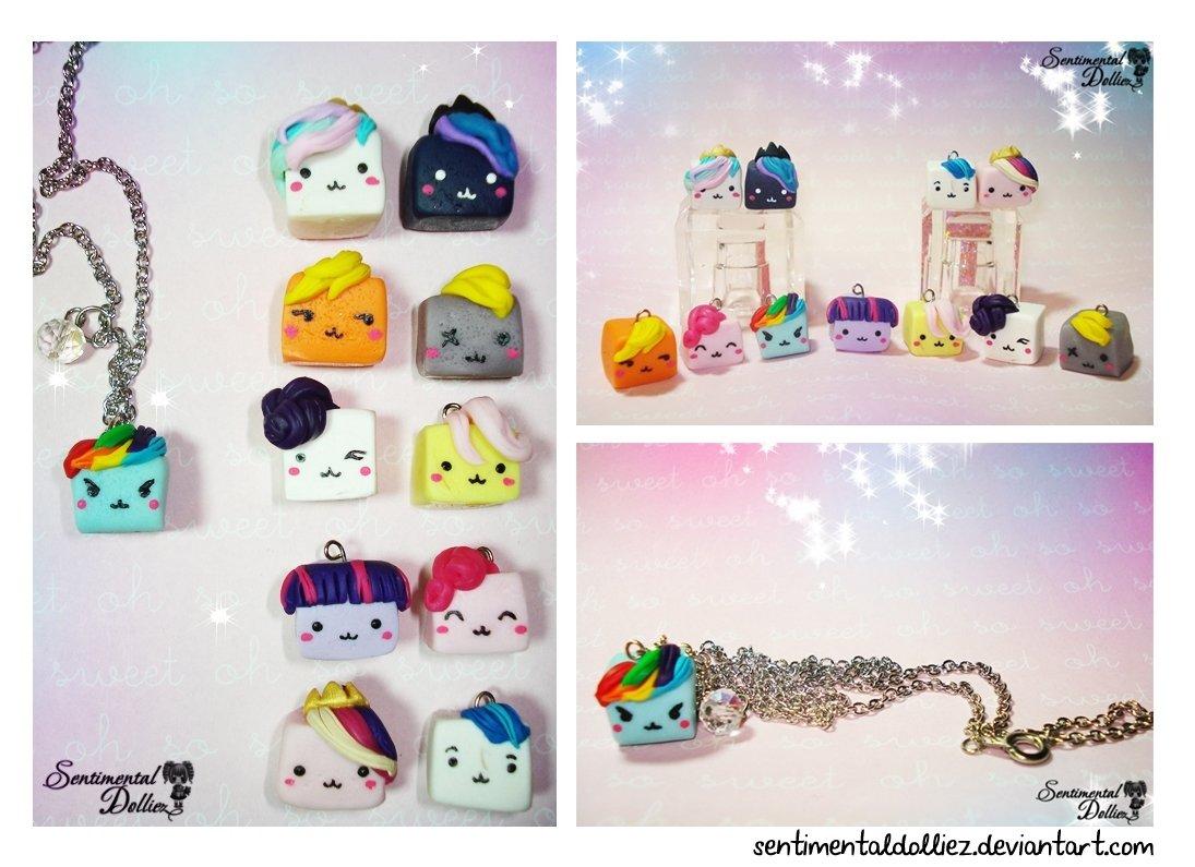 10 Stylish My Little Pony Craft Ideas my little pony tofu cubes necklacesentimentaldolliez on deviantart 2020
