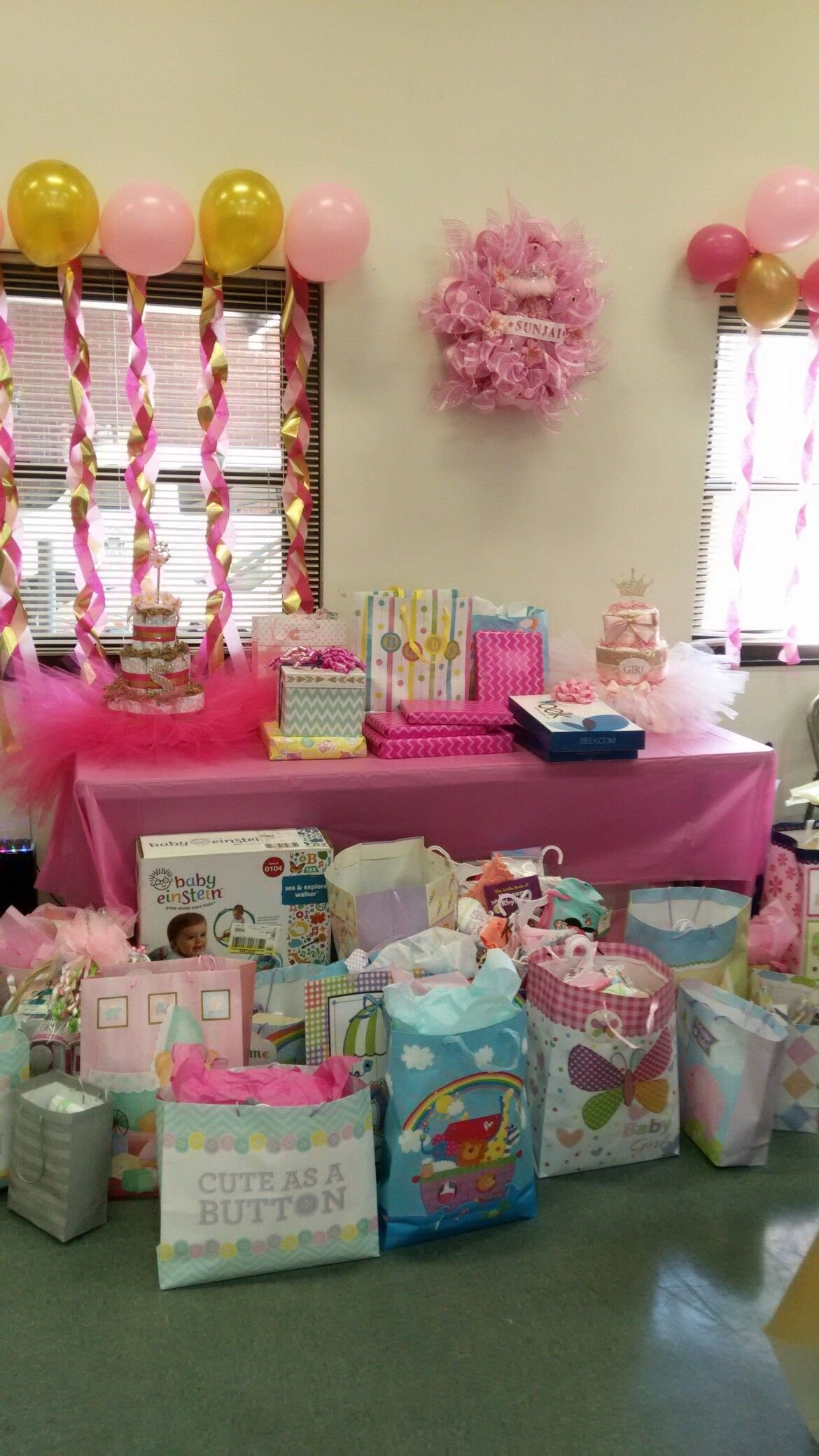 10 Fashionable Baby Shower Gift Table Ideas my nieces baby showergift table simple touch decorations 2020