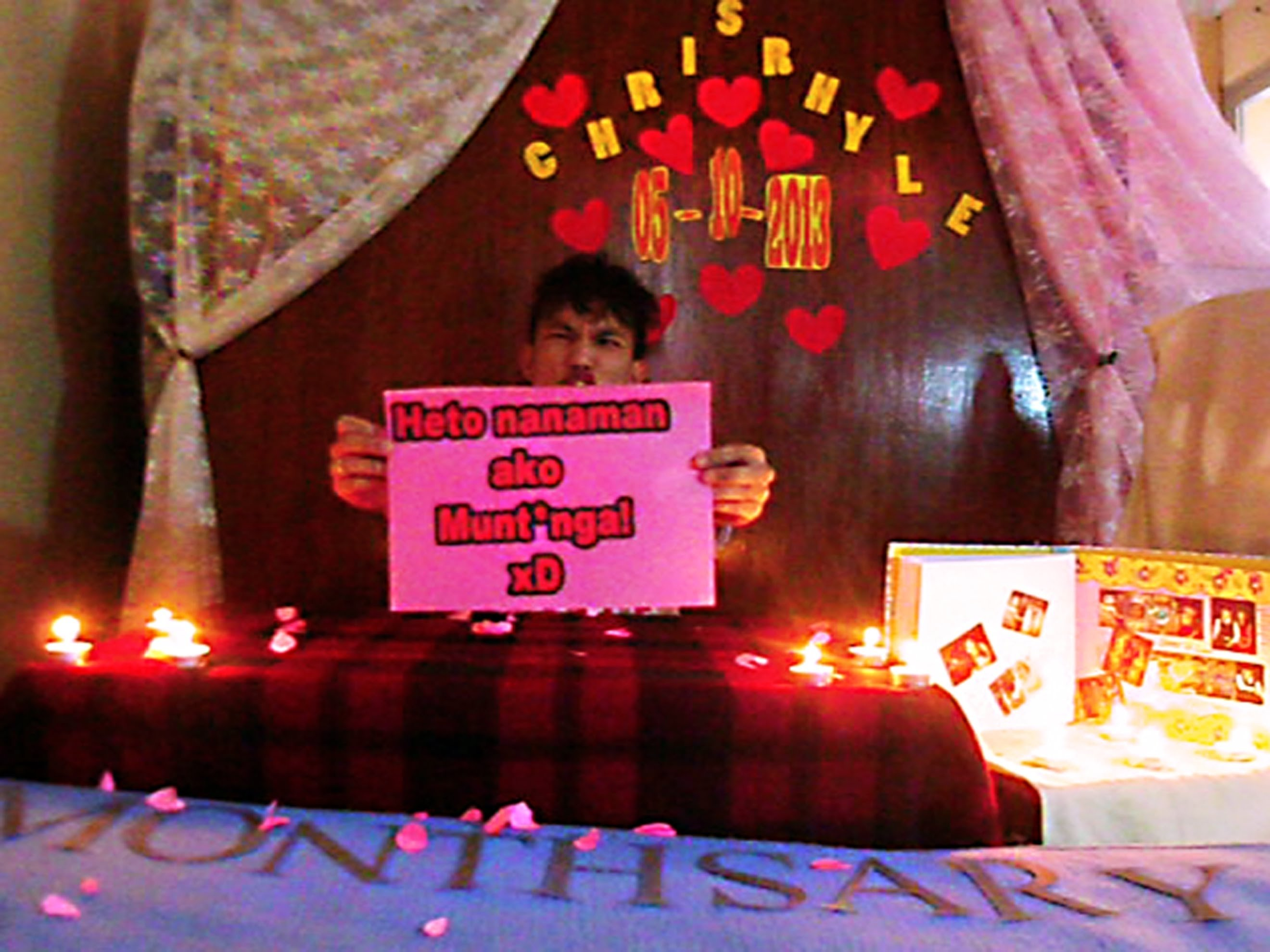 my simple monthsary gift/surprise for my girlfriend 2014 - youtube