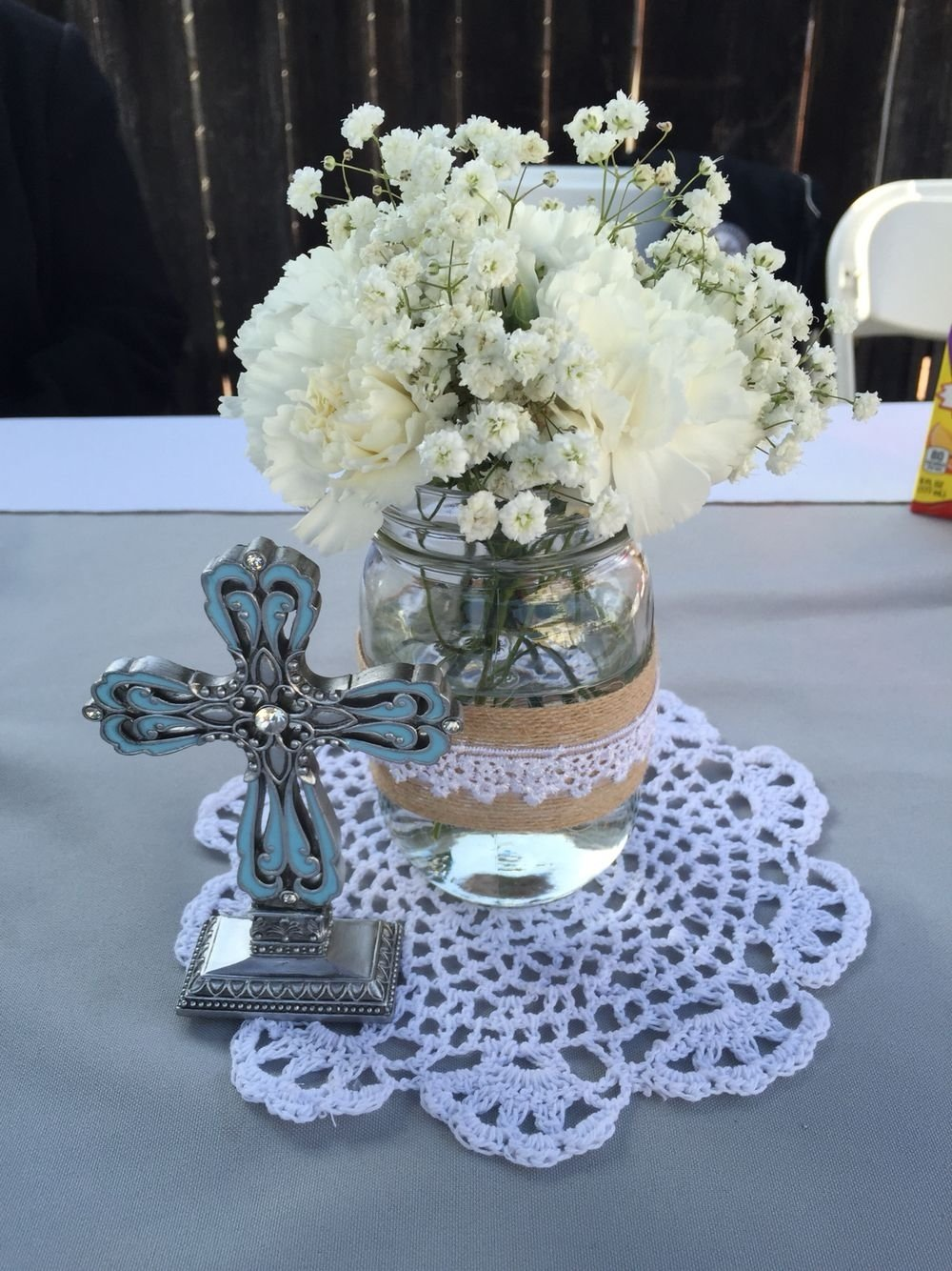 10 Ideal First Holy Communion Party Ideas my sons first holy communion centerpieces centerpieces 2020