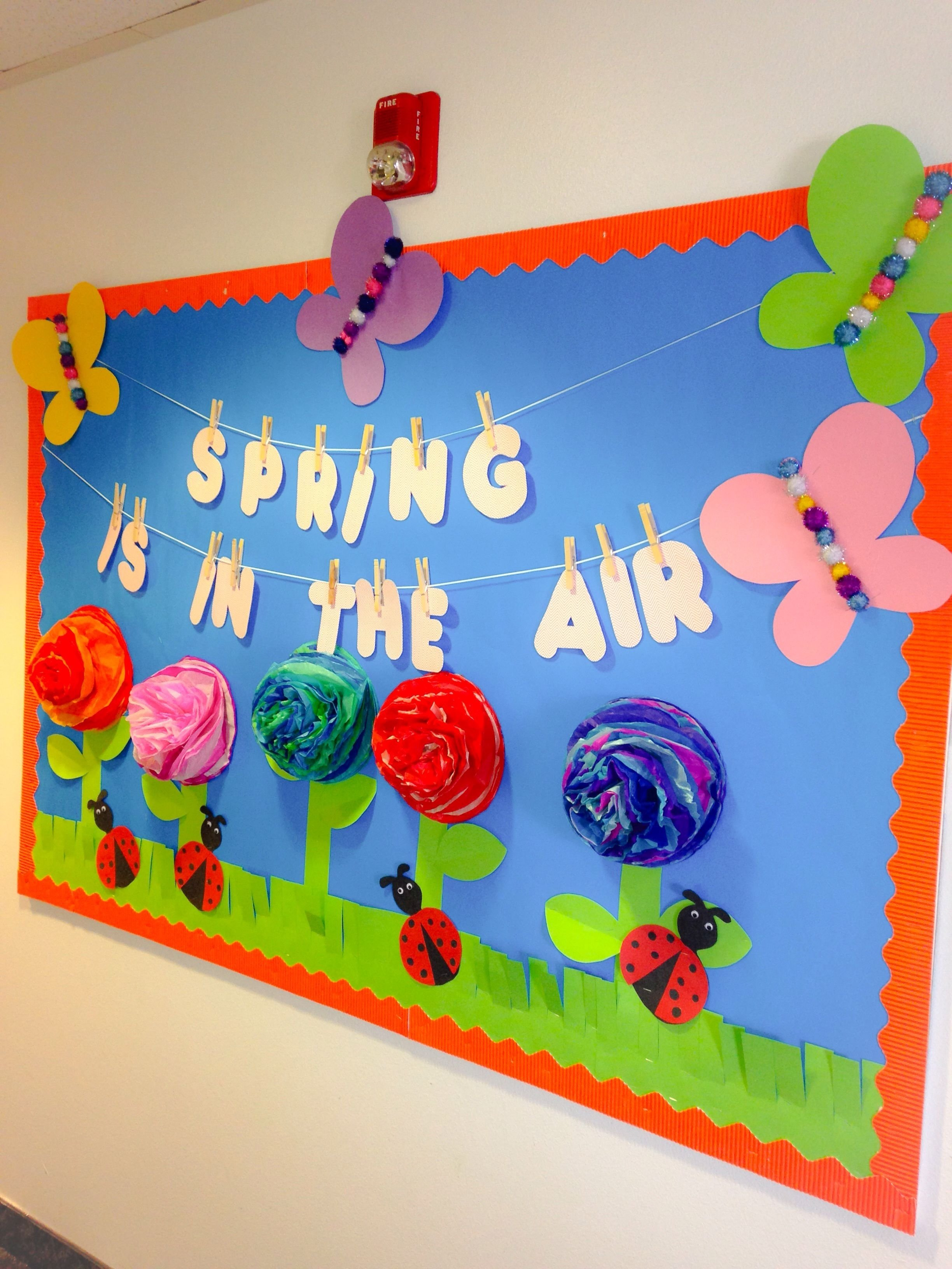 my spring bulletin board (one of my favorites) thinking about