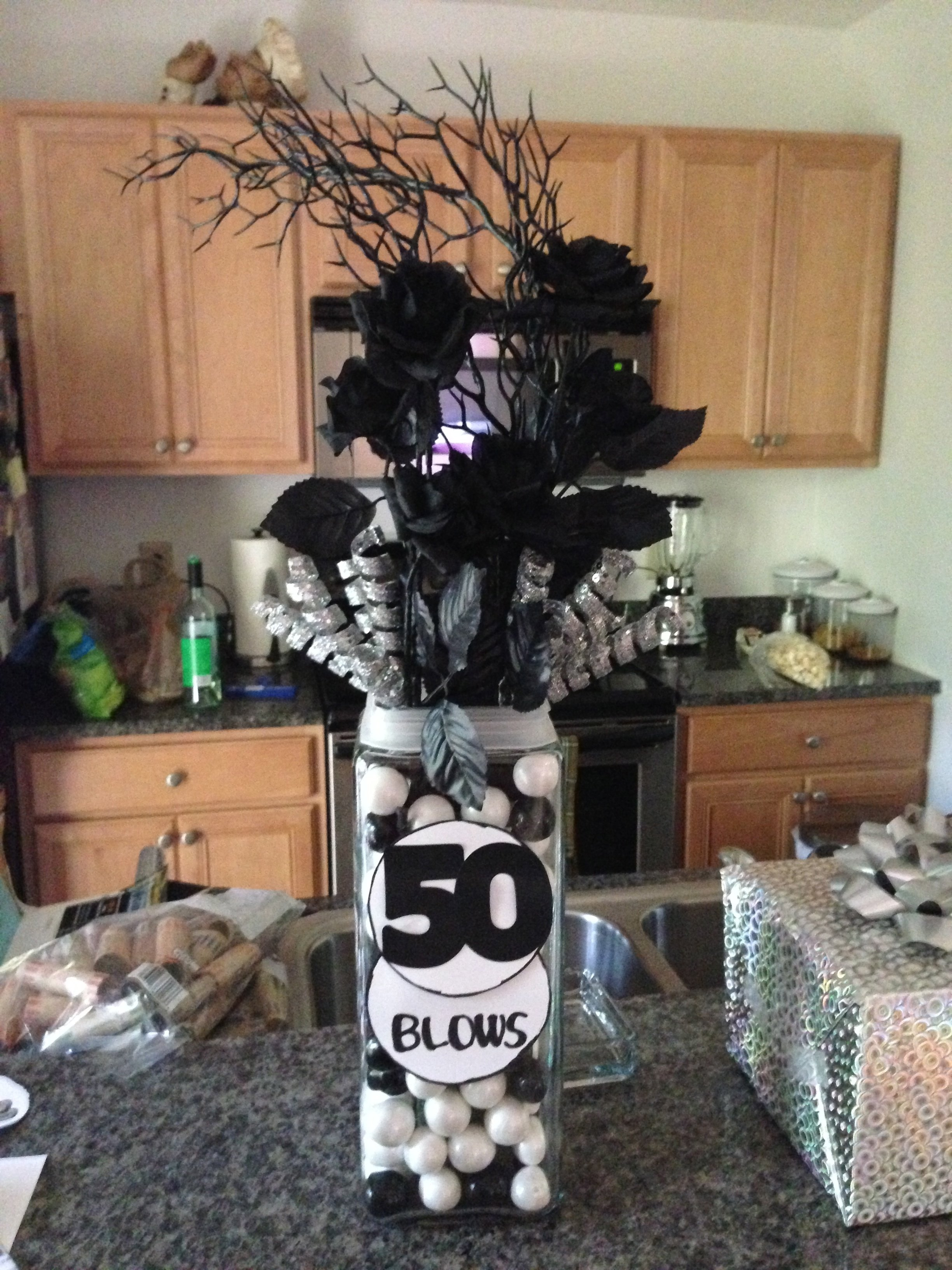 10 Most Recommended 50 Birthday Party Ideas For Men My Version Of A 50th Centerpiece