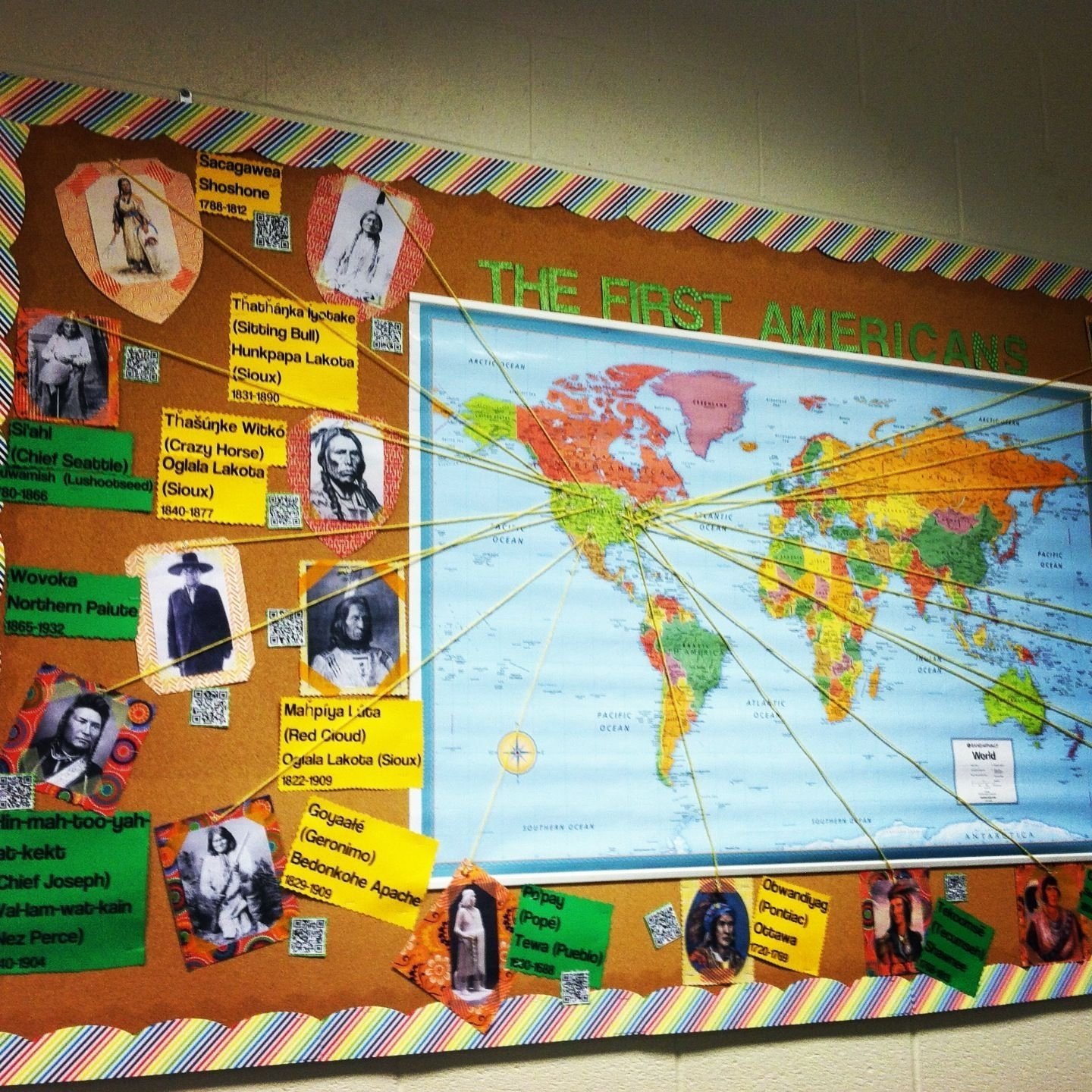 10 Great Social Studies Classroom Decorating Ideas my very own qr coded first americans board for my high school 2021