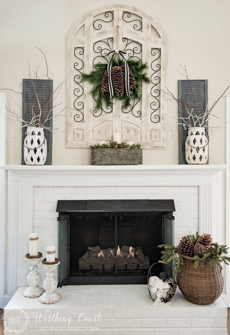 my winter fireplace mantel and hearth | worthing, fireplace mantel