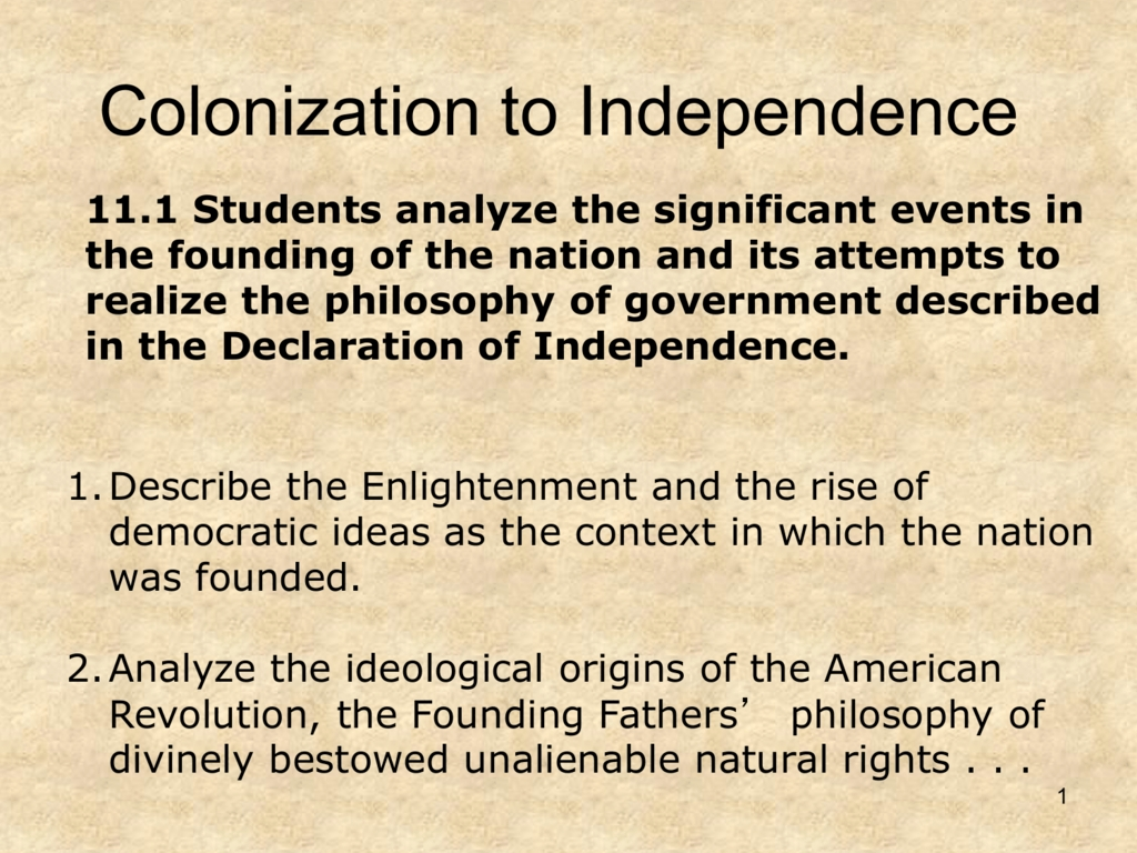 10 Cute The Rise Of Democratic Ideas n01 colonization to independence