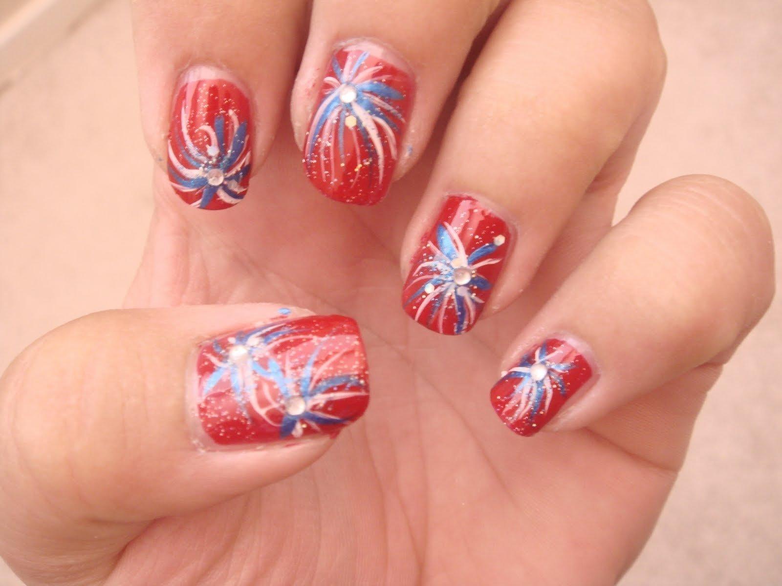 10 Unique 4th Of July Nail Art Ideas