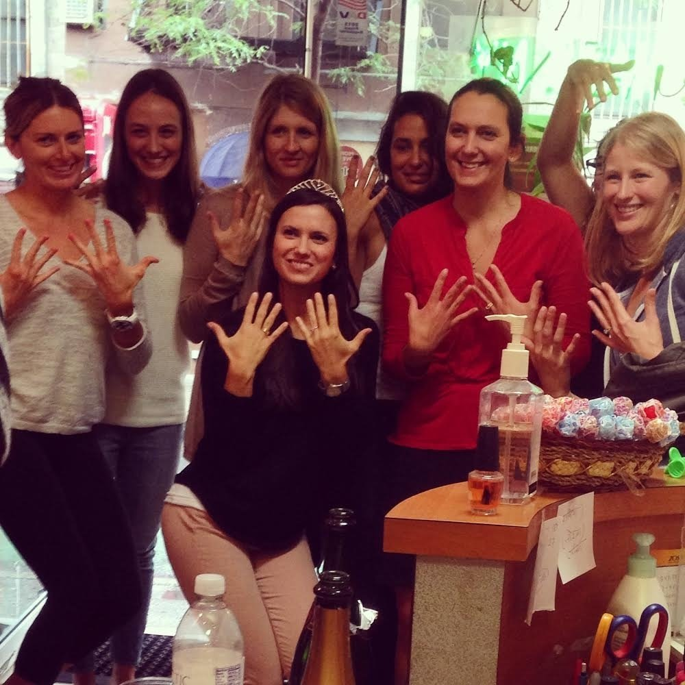 10 Beautiful Bachelorette Party Ideas In Nyc nails salon party nail salon party byob nails party 2020