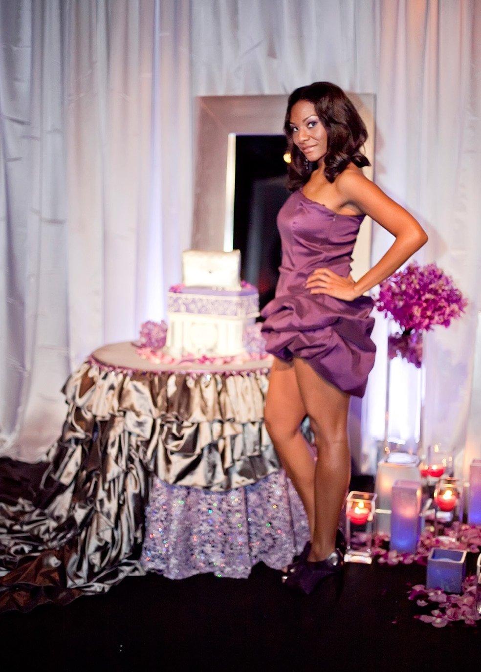 10 Lovely Birthday Celebration Ideas For Women natasha 30th birthday purple dress the celebration society 2020