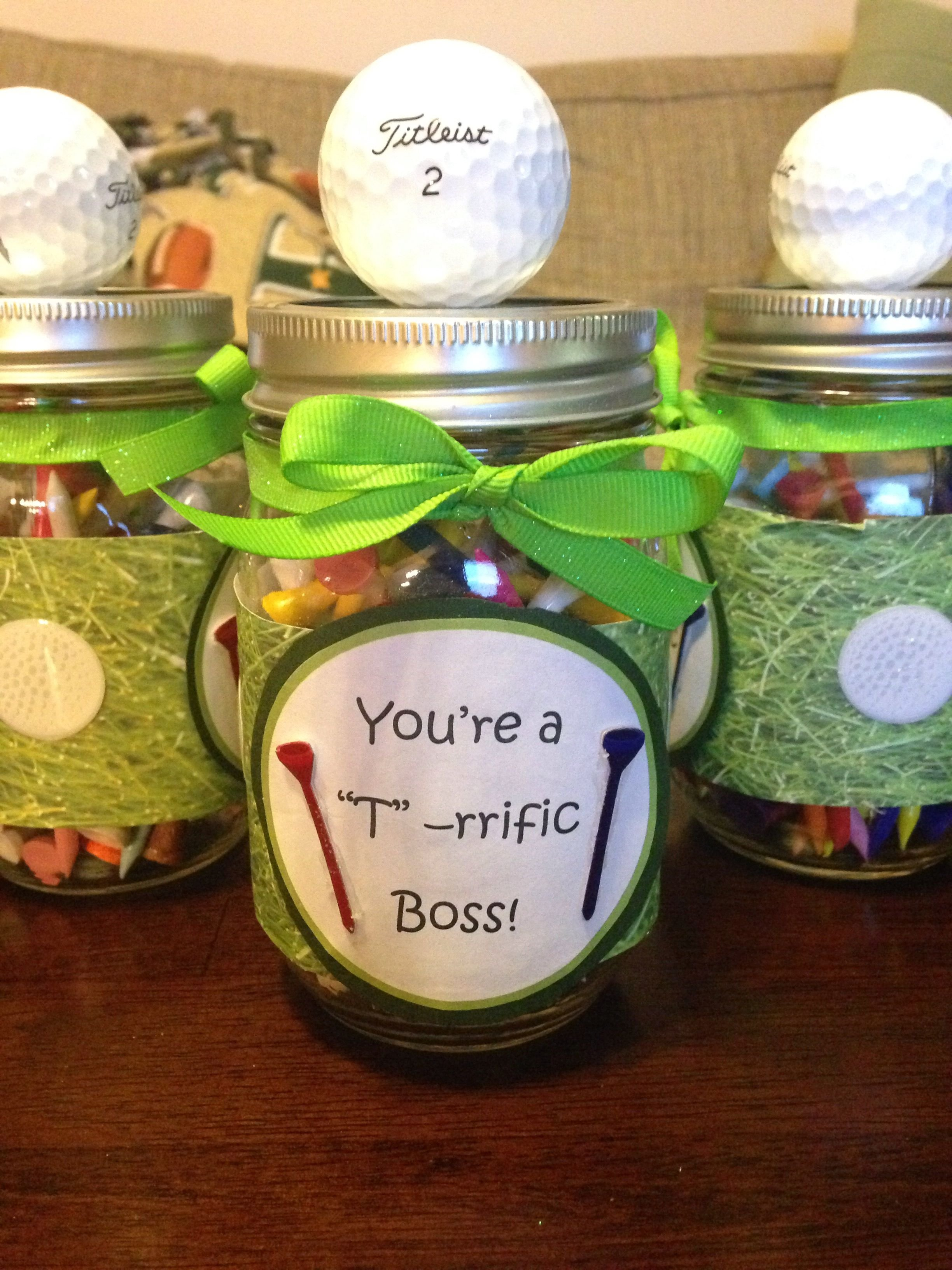 10 Stylish National Boss Day Gift Ideas national boss day gift the mason jars are filled with golf tees 2020